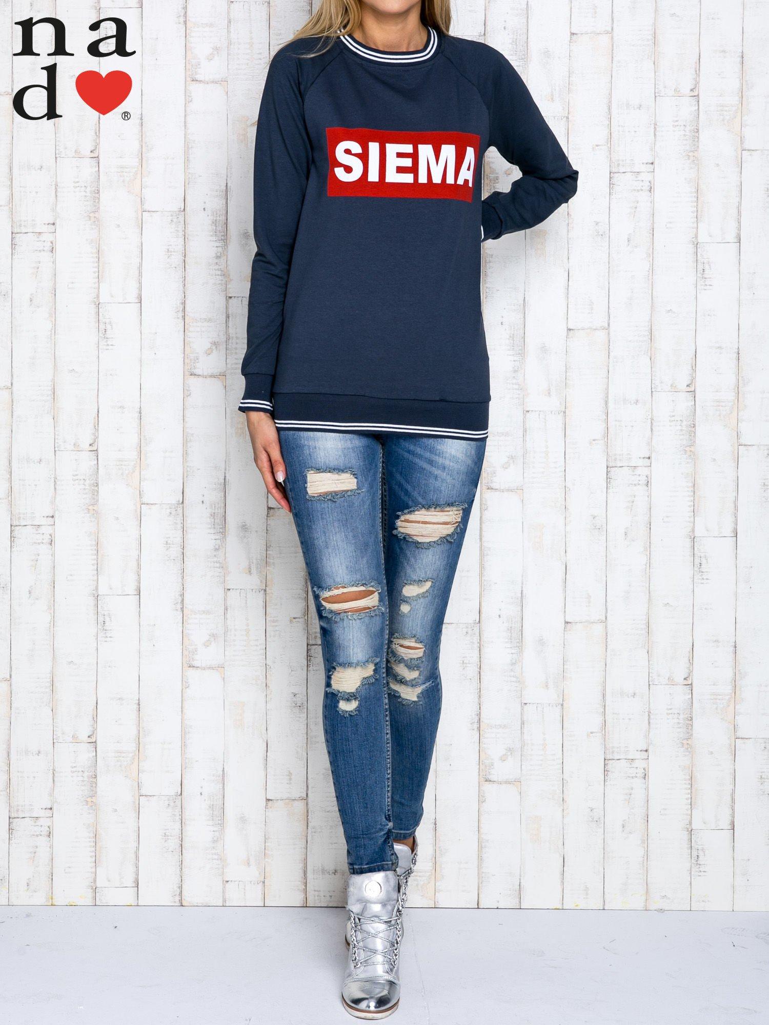 Grafitowa bluza z napisem SIEMA                                  zdj.                                  2