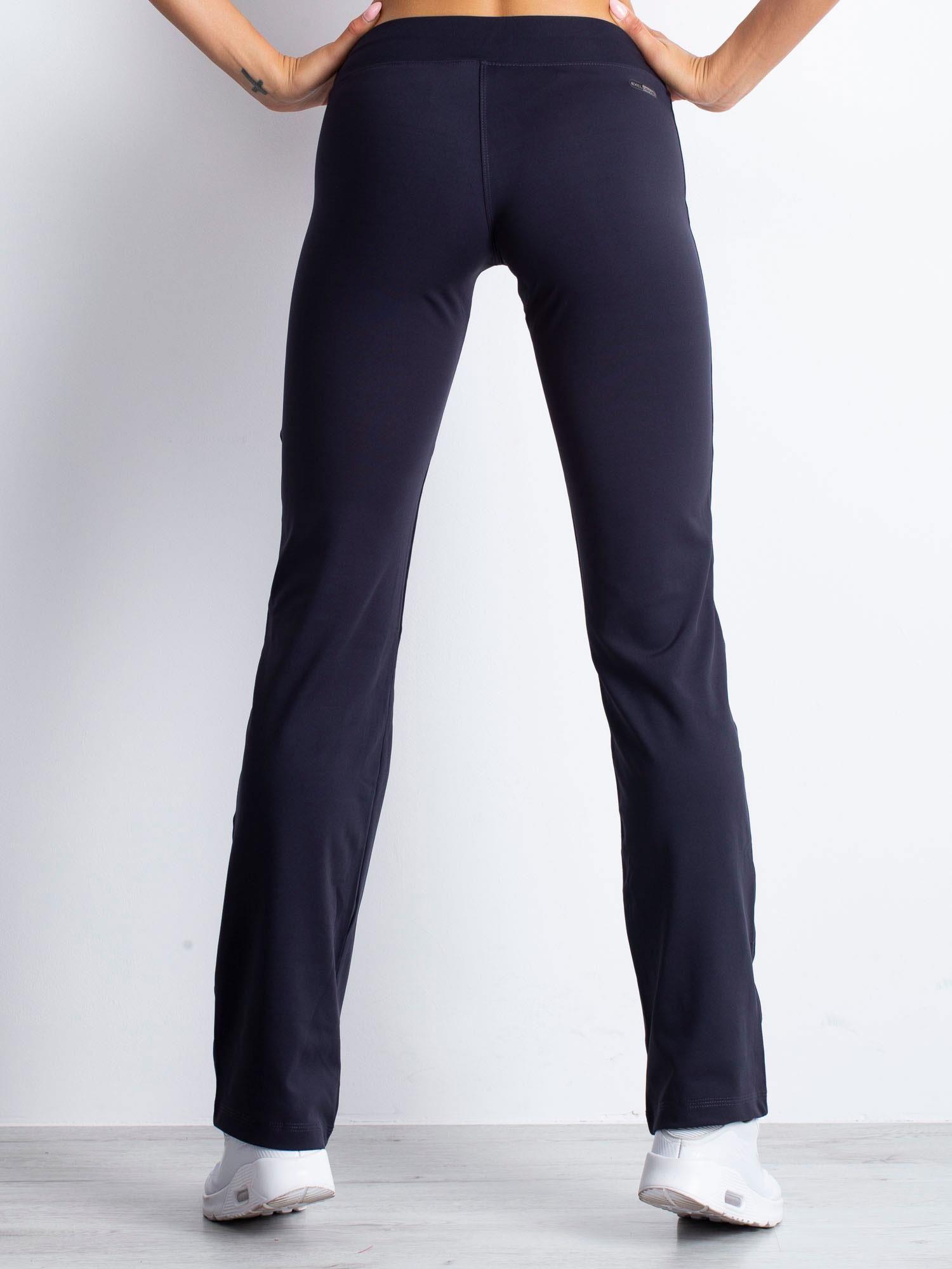 Grafitowe spodnie dresowe z aplikacją z dżetów                                  zdj.                                  2