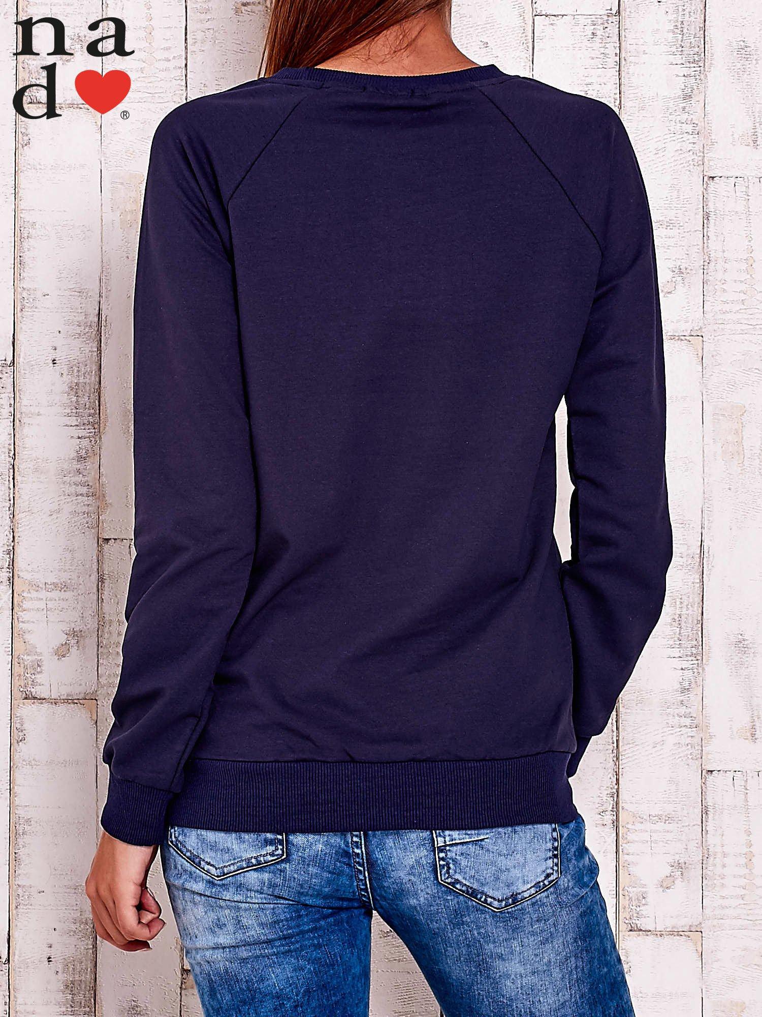 Granatowa bluza w serduszka                                  zdj.                                  4