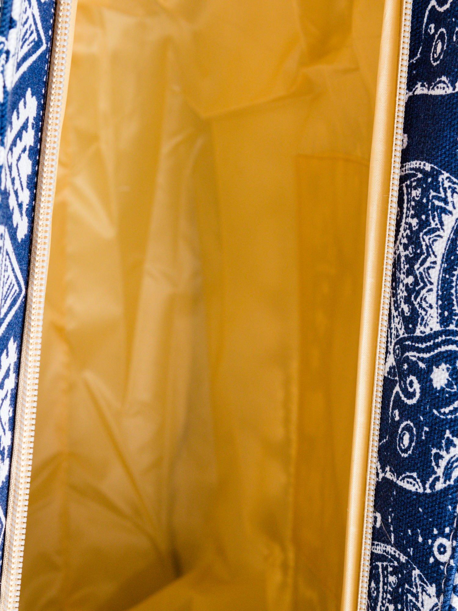 Granatowa torba plażowa w indyjskie wzory                                  zdj.                                  10