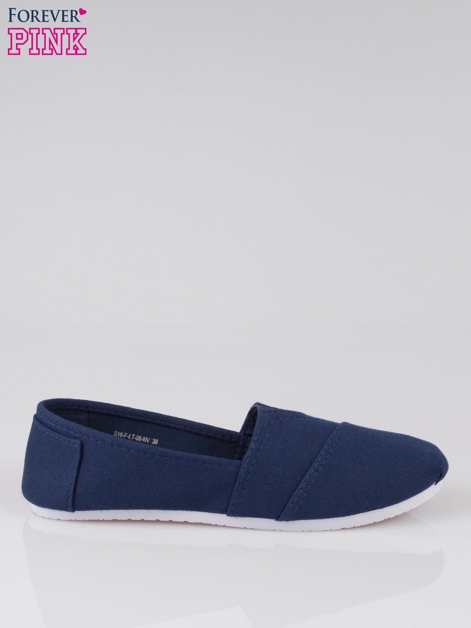 Granatowe lekkie buty slip on                                  zdj.                                  1