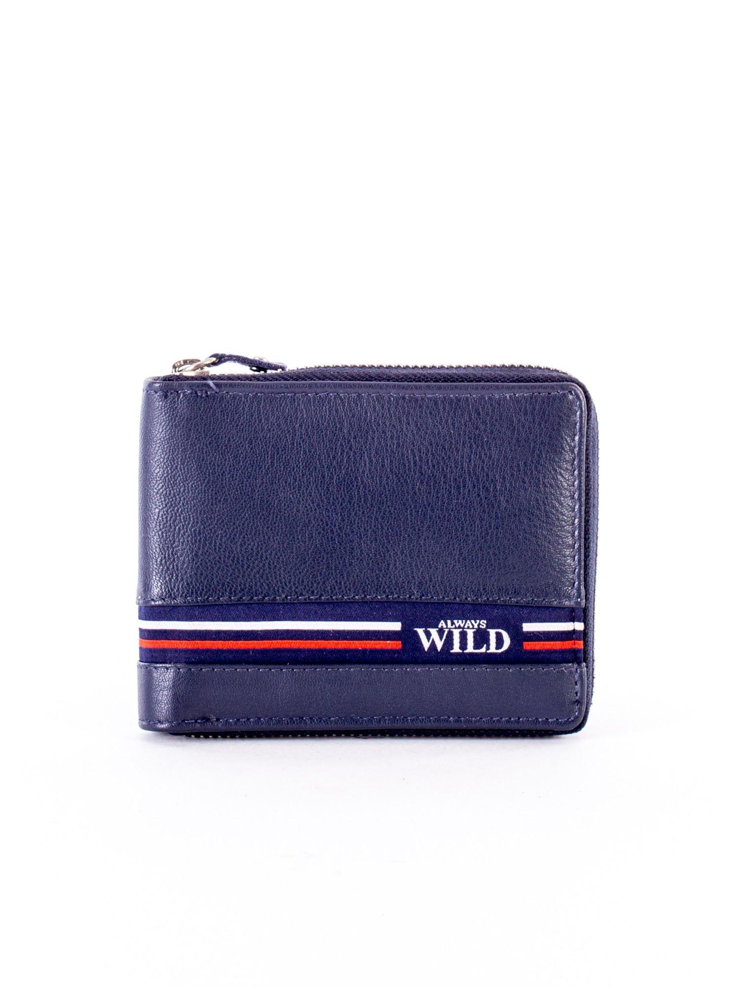 fdd50bbc80ae1 Granatowy portfel dla mężczyzny ze skóry naturalnej - Mężczyźni portfel  męski - sklep eButik.pl
