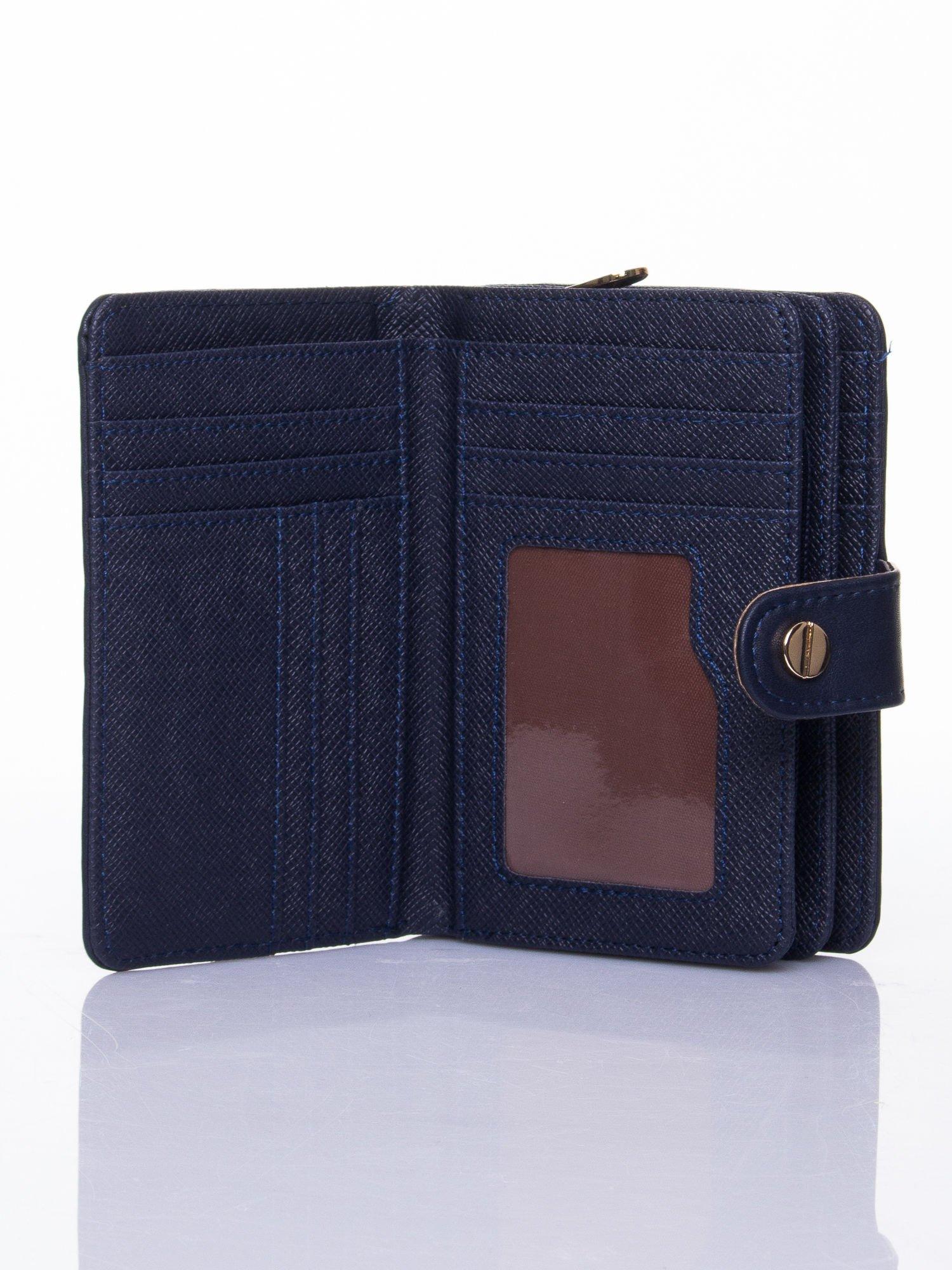 Granatowy portfel z zatrzaskiem                                  zdj.                                  5
