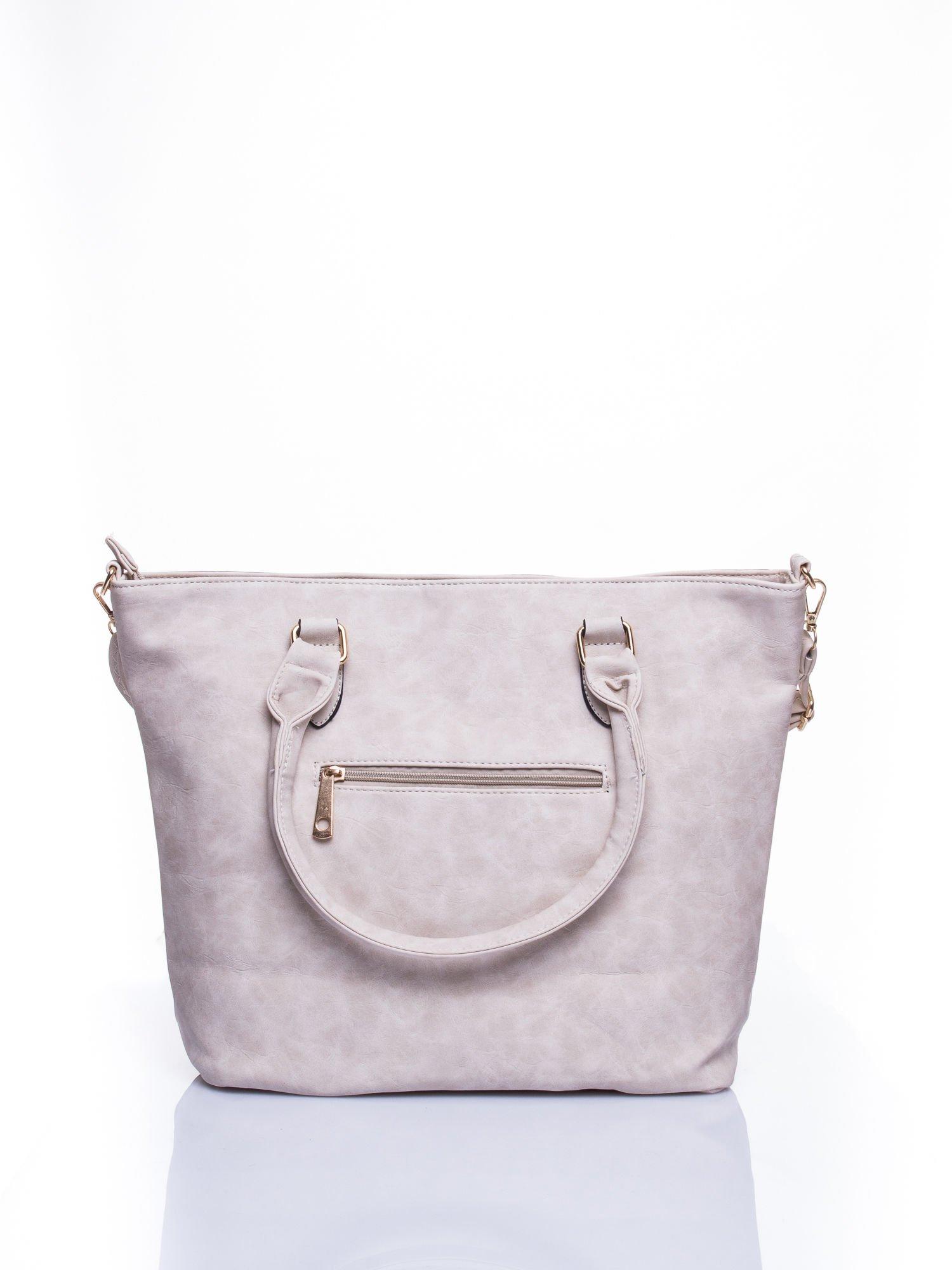 Jasnobeżowa torba city bag na ramię                                  zdj.                                  2