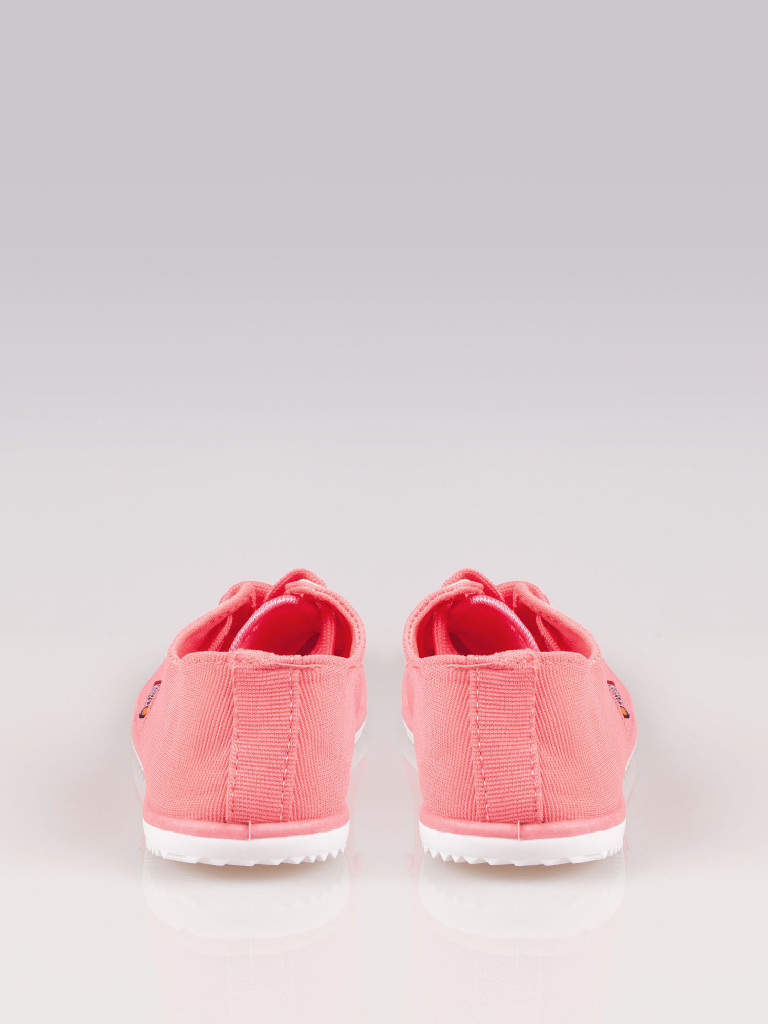Jasnoczerwone miękkie buty casualowe damskie                                  zdj.                                  3