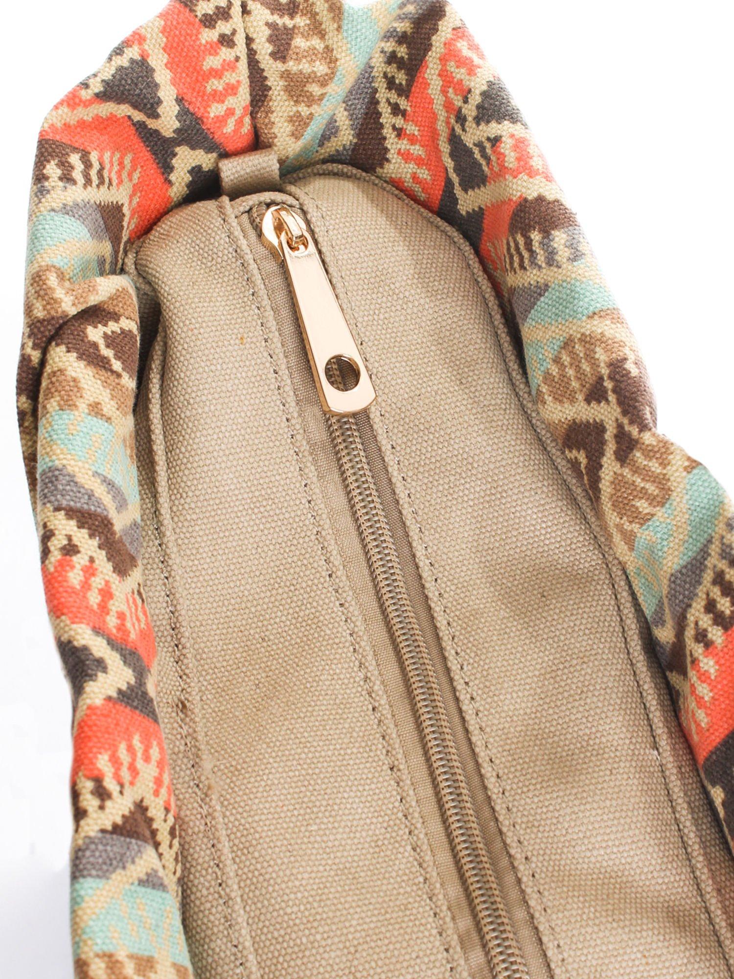 Jasnoniebieska torba gumowa z motywem azteckim                                  zdj.                                  6