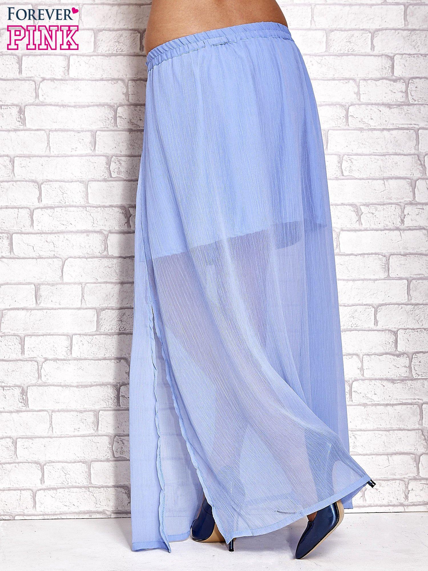Jasnoniebieska transparentna spódnica maxi                                  zdj.                                  4