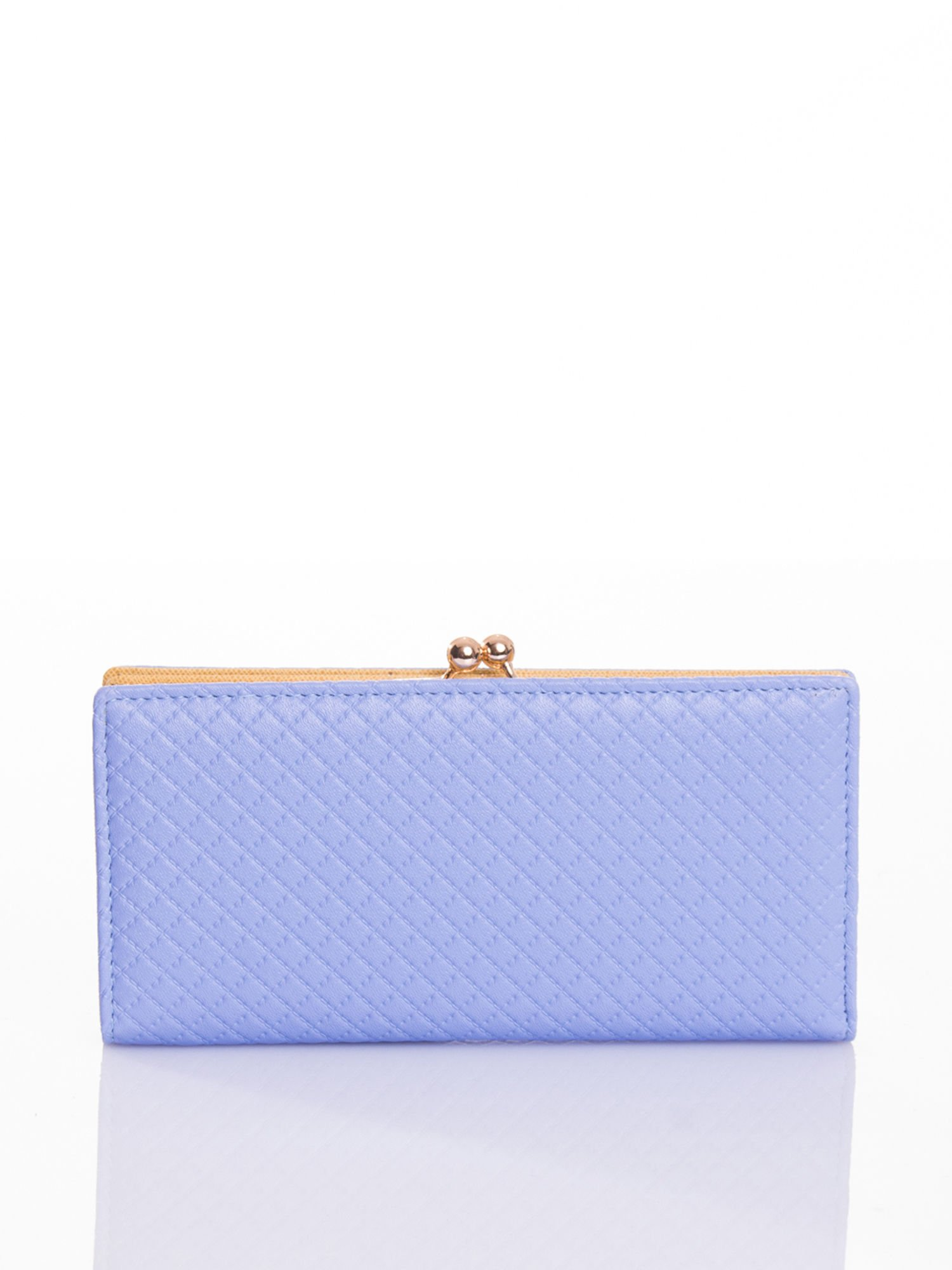 Jasnoniebieski elegancki portfel na bigiel                                  zdj.                                  1