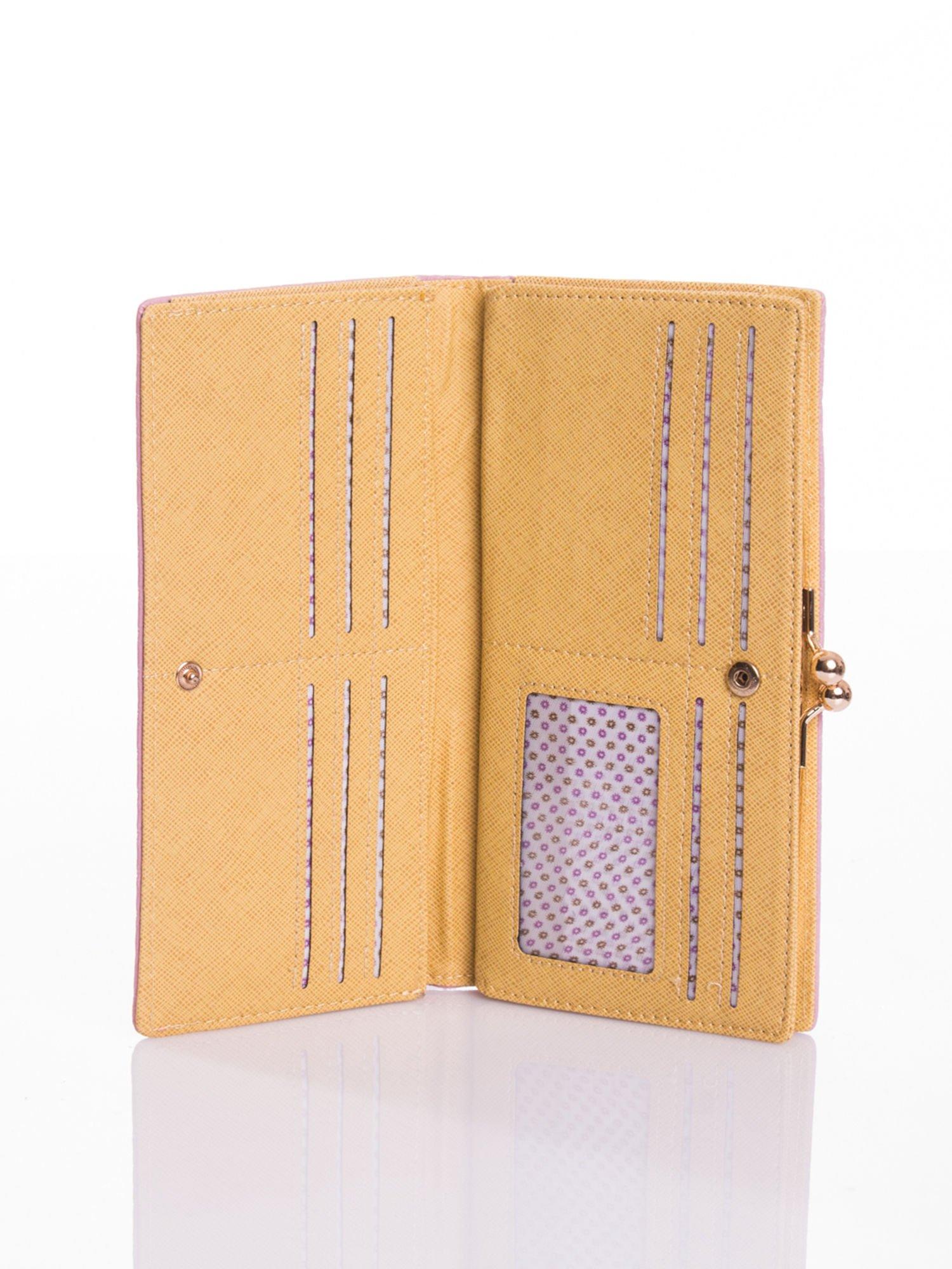 Jasnoniebieski elegancki portfel na bigiel                                  zdj.                                  4