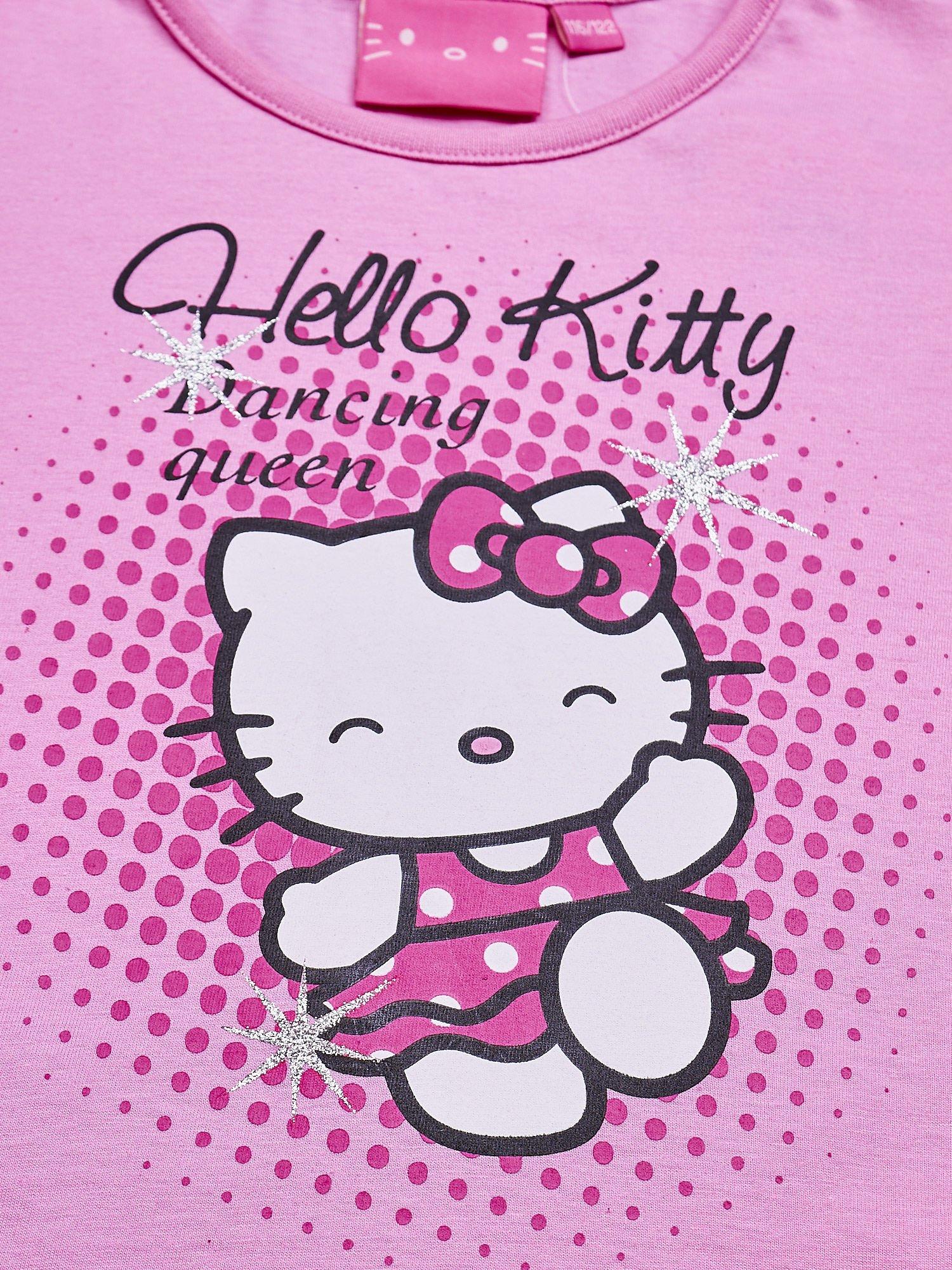 Jasnoróżowa tunika dla dziewczynki nadruk HELLO KITTY                                  zdj.                                  5