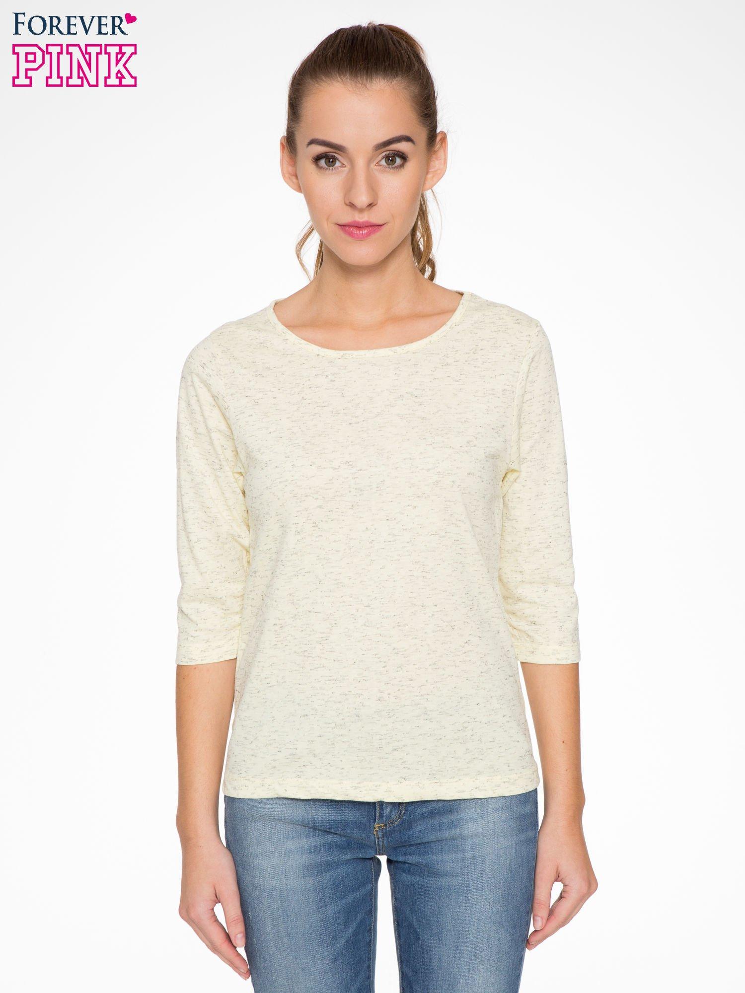 Jasnożółta melanżowa bluzka z rękawami 3/4                                  zdj.                                  1