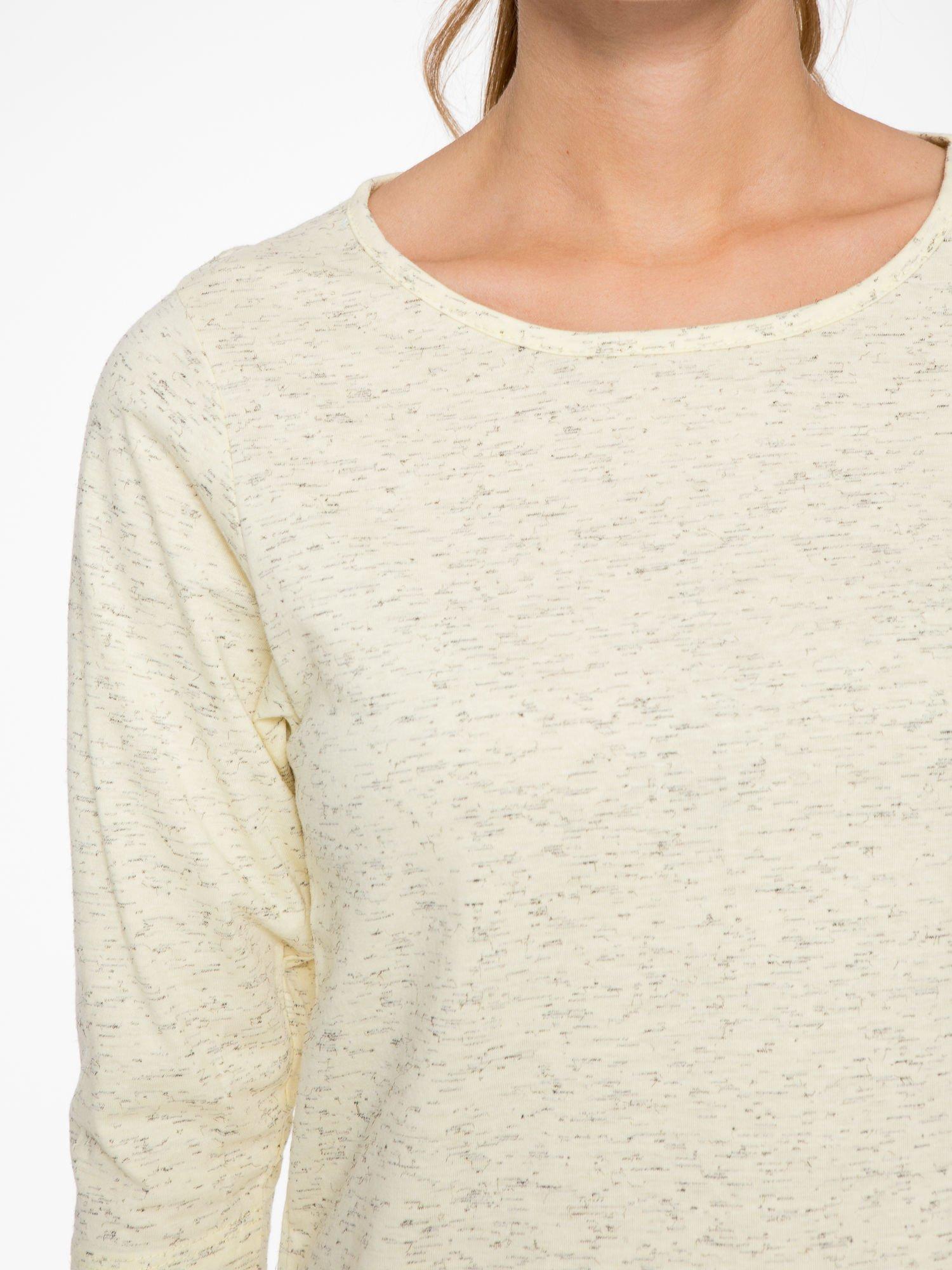 Jasnożółta melanżowa bluzka z rękawami 3/4                                  zdj.                                  5