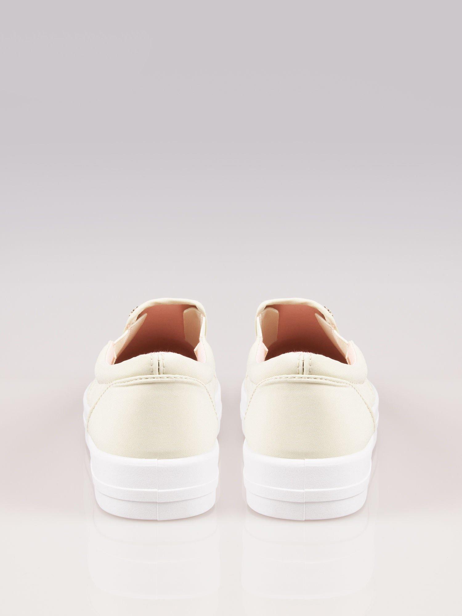 Jasnożółte buty slip on na grubej podeszwie                                  zdj.                                  3