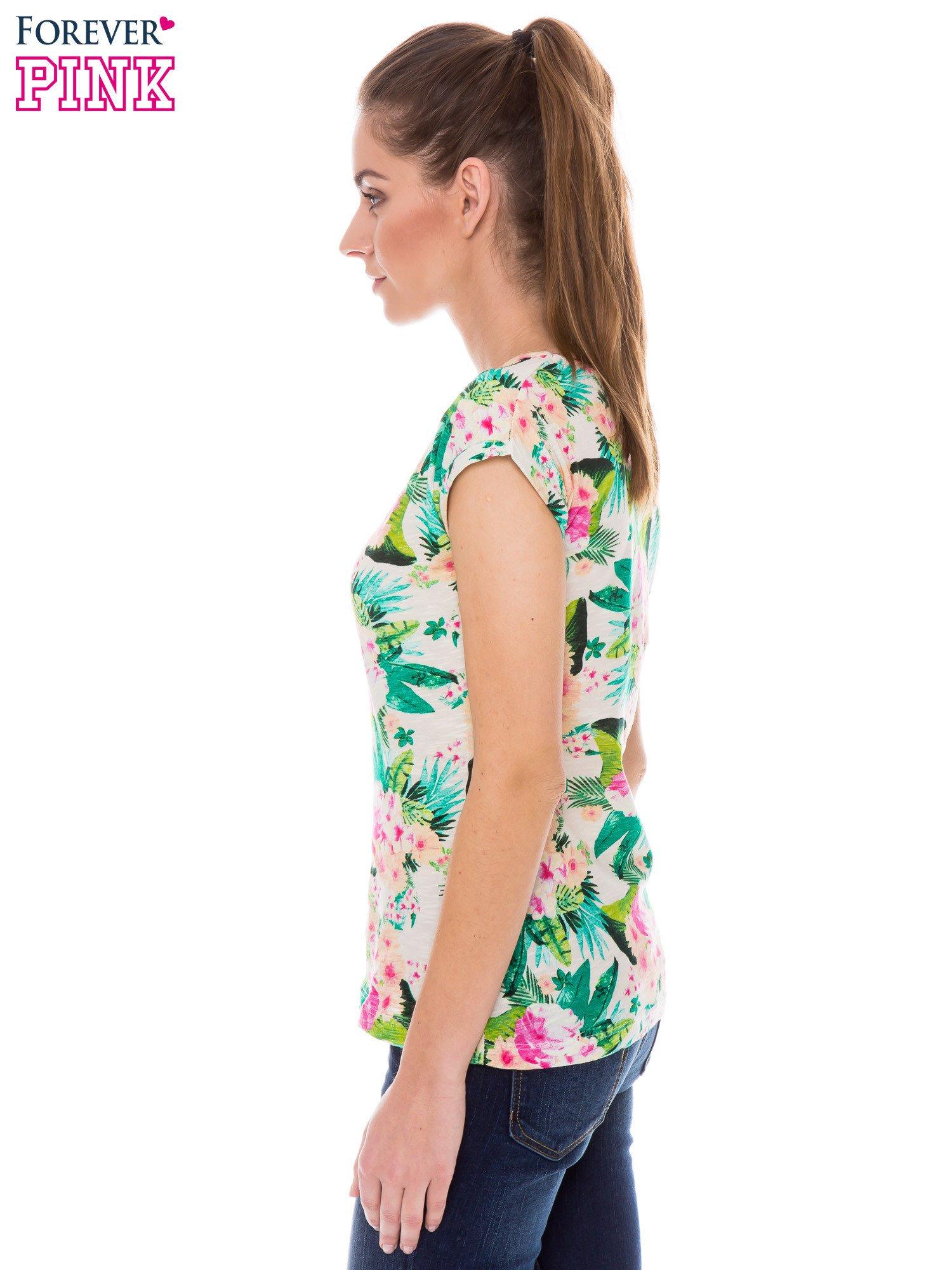 Kolorowy t-shirt w kwiaty                                  zdj.                                  2