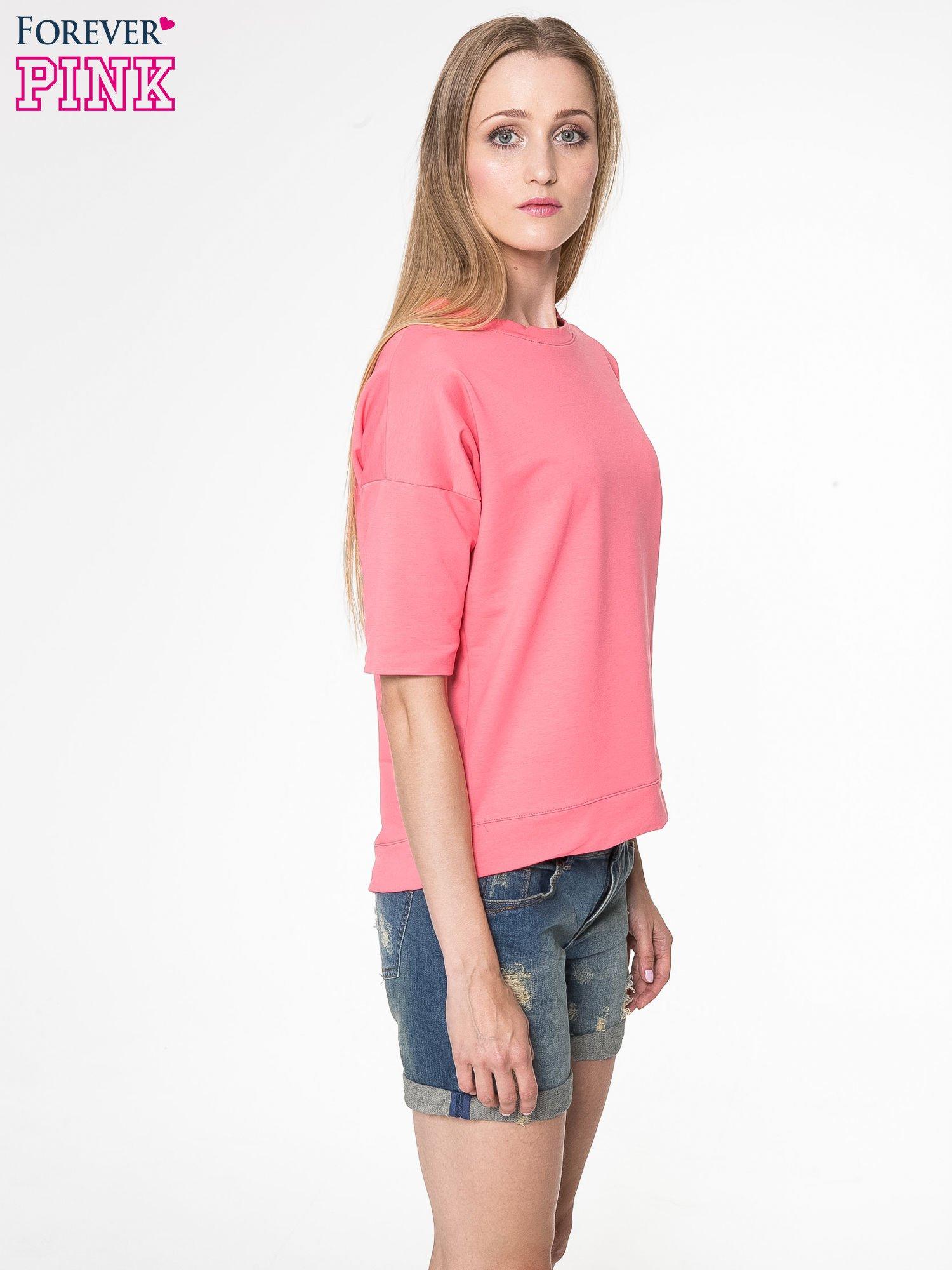 Koralowa bluza z suwakiem z tyłu                                  zdj.                                  4