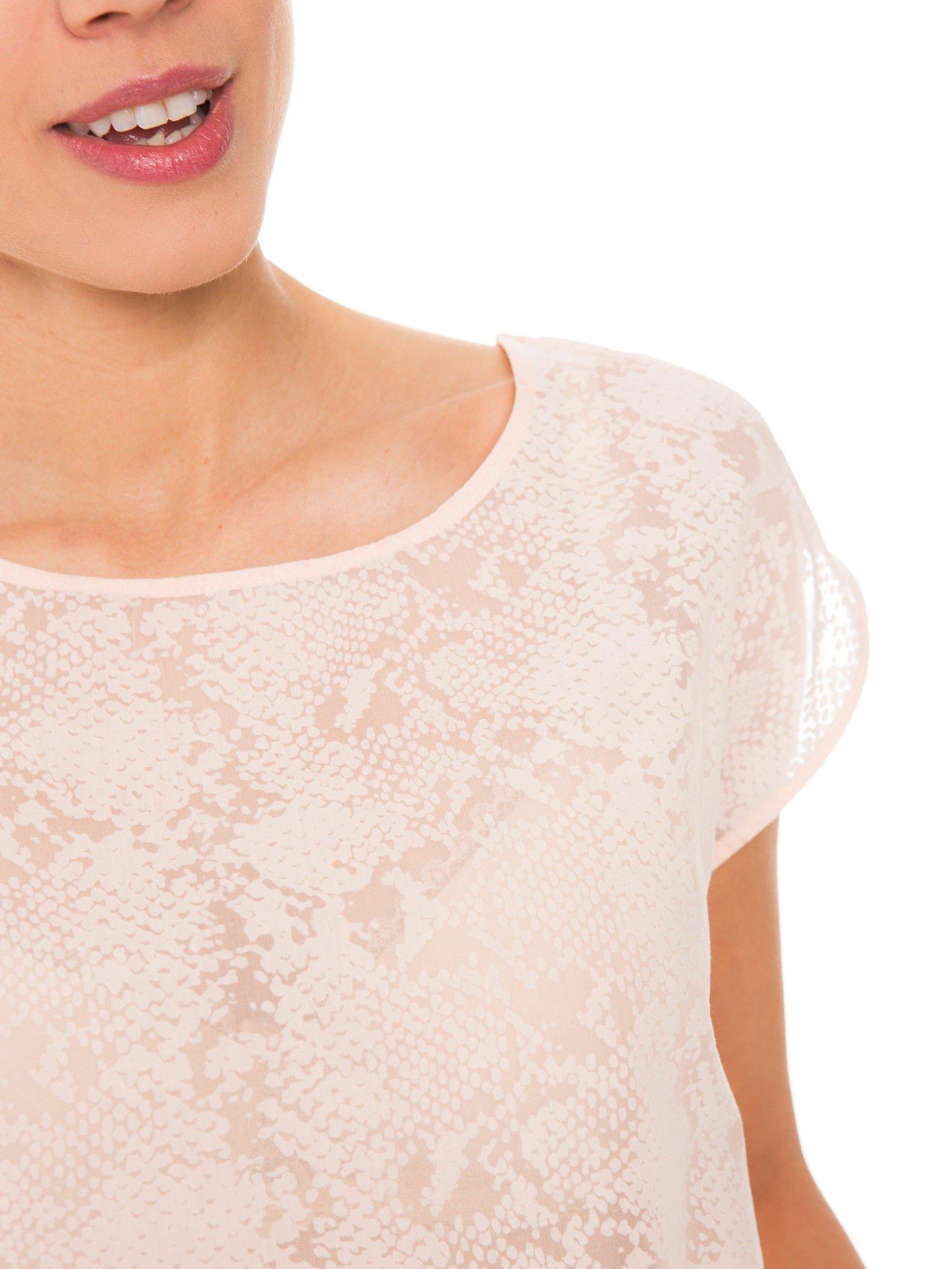 Koralowa transparentna koszula                                  zdj.                                  3