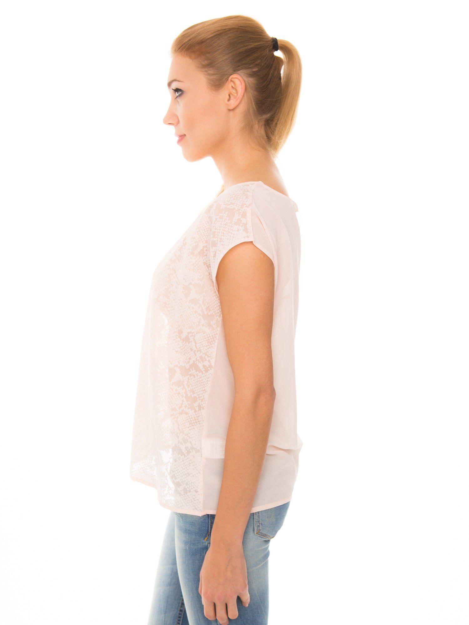 Koralowa transparentna koszula                                  zdj.                                  6