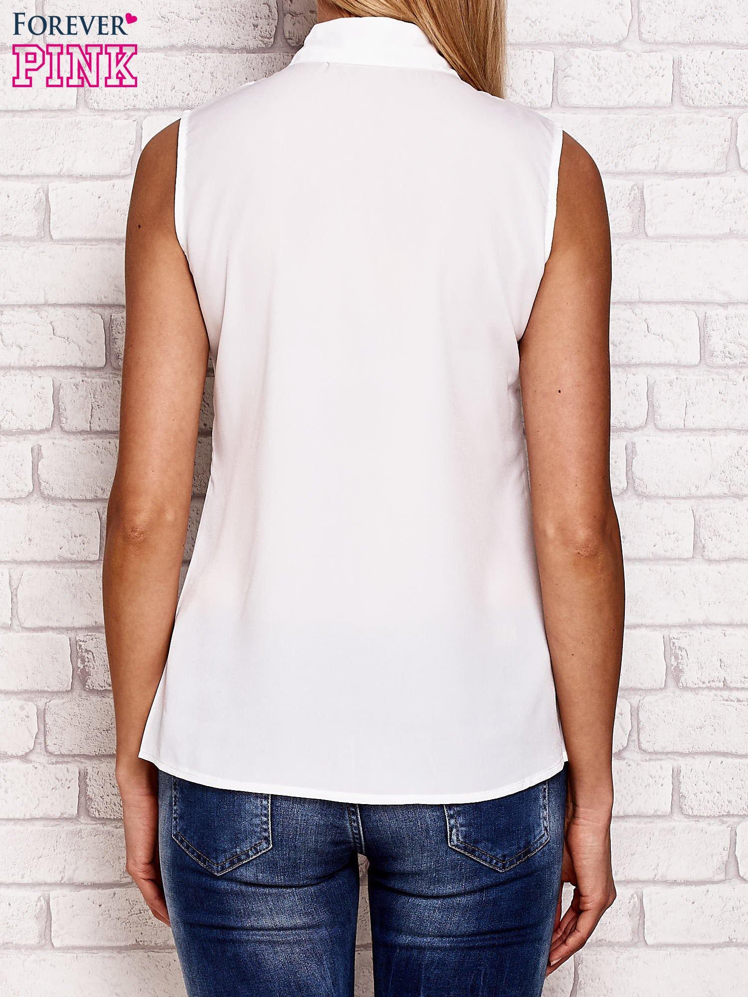 Koszula z modowym nadrukiem biała