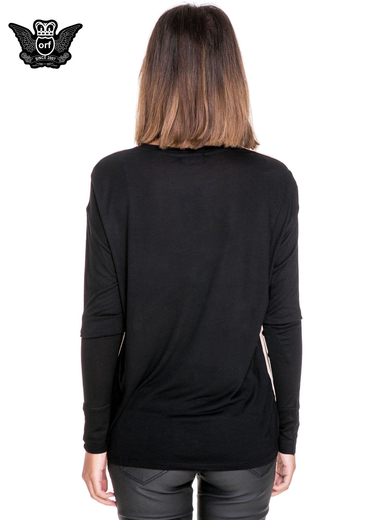 Koszula z satynowym przodem i nadrukiem kobiet                                  zdj.                                  2