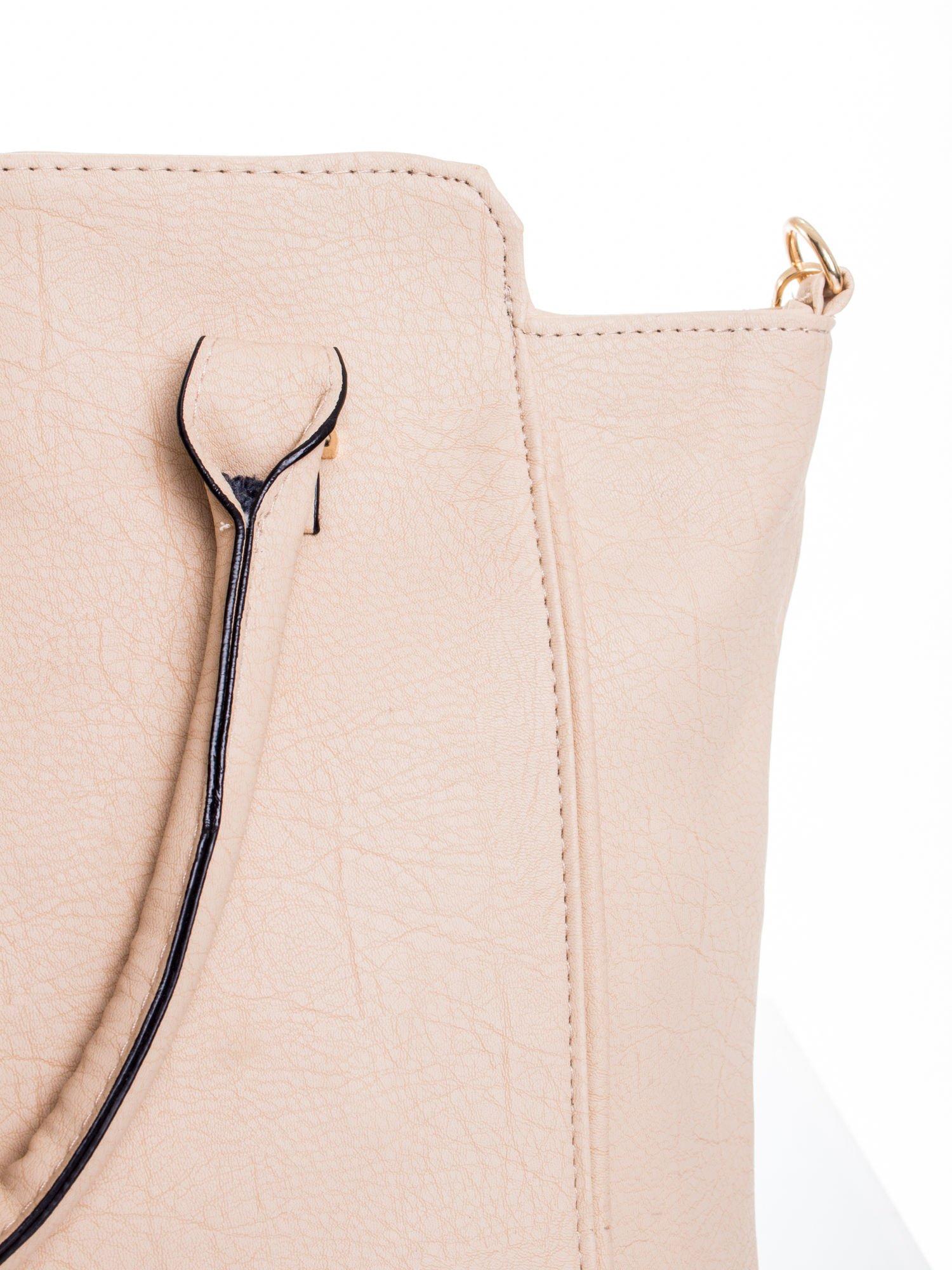 Kremowa torba shopper bag                                  zdj.                                  6