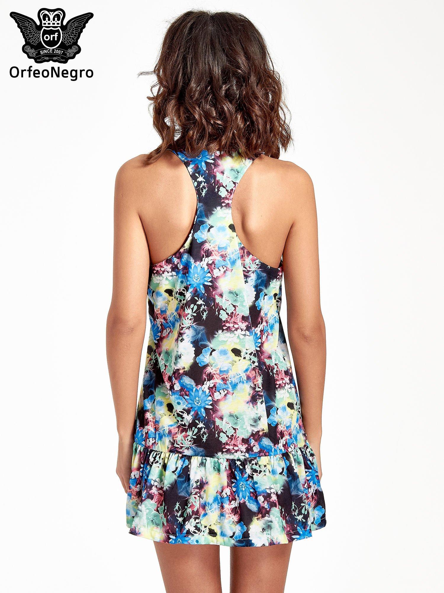 Kwiatowa sukienka z falbaną                                  zdj.                                  4