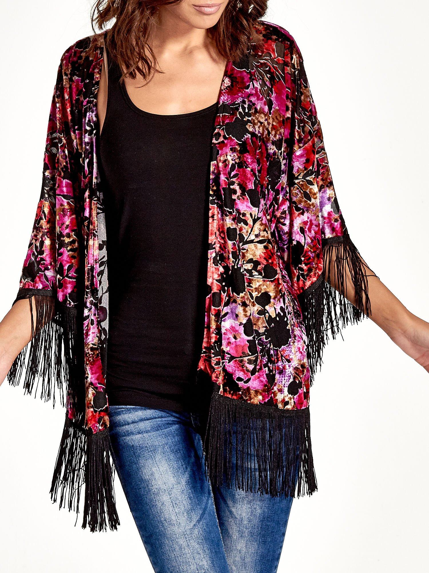 Kwiatowe kimono z frędzlami                                  zdj.                                  6