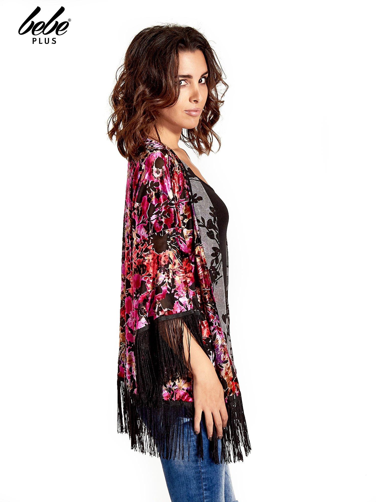 Kwiatowe kimono z frędzlami                                  zdj.                                  4