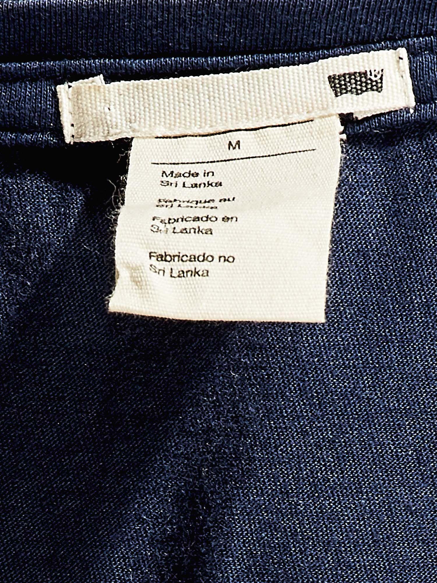 4f557aef9 LEVIS Granatowy t-shirt oversize z nadrukiem - T-shirt z nadrukiem ...