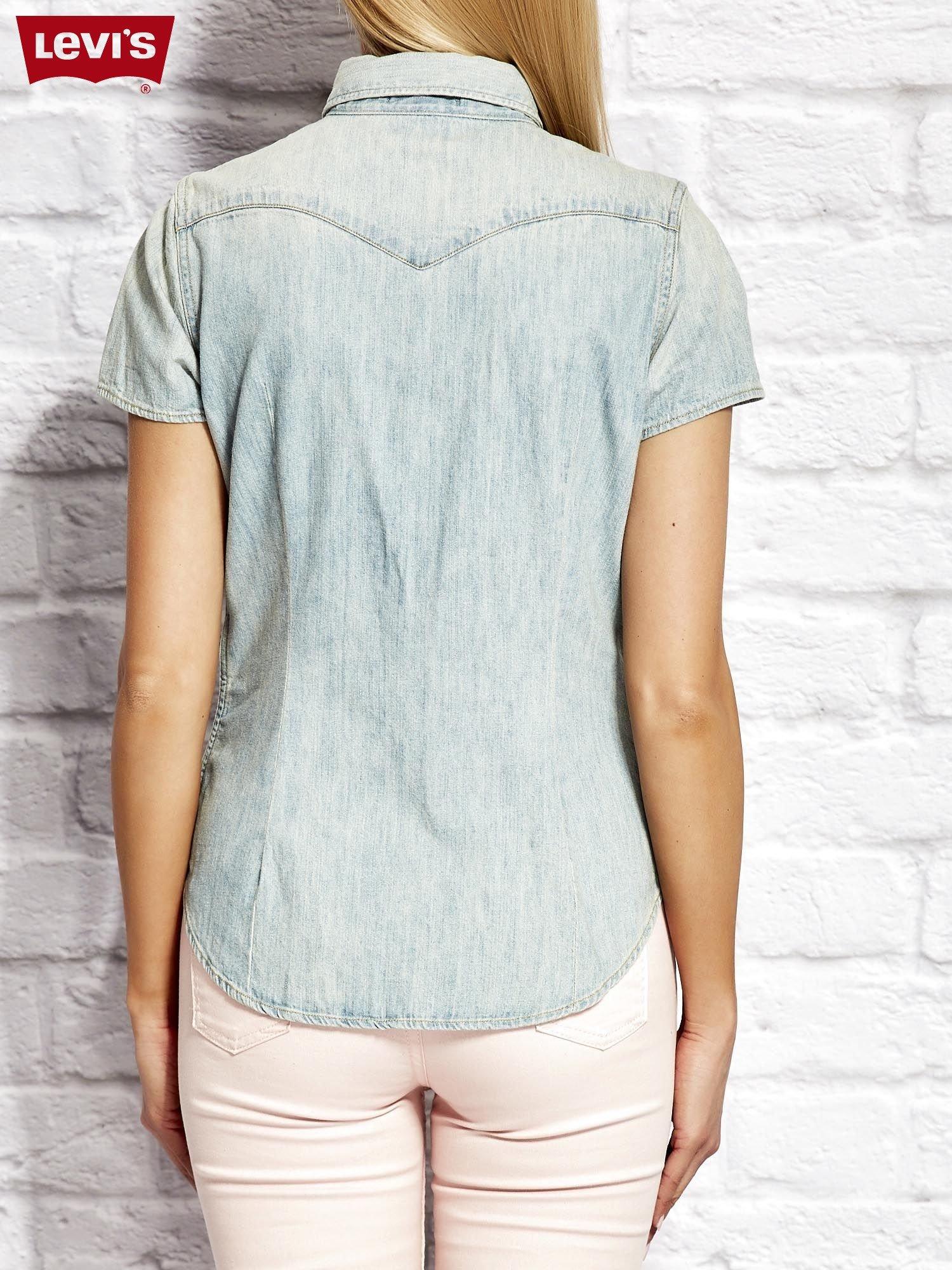 bd838e187 LEVIS Jasnoniebieska jeansowa koszula z krótkim rękawem - Koszula ...
