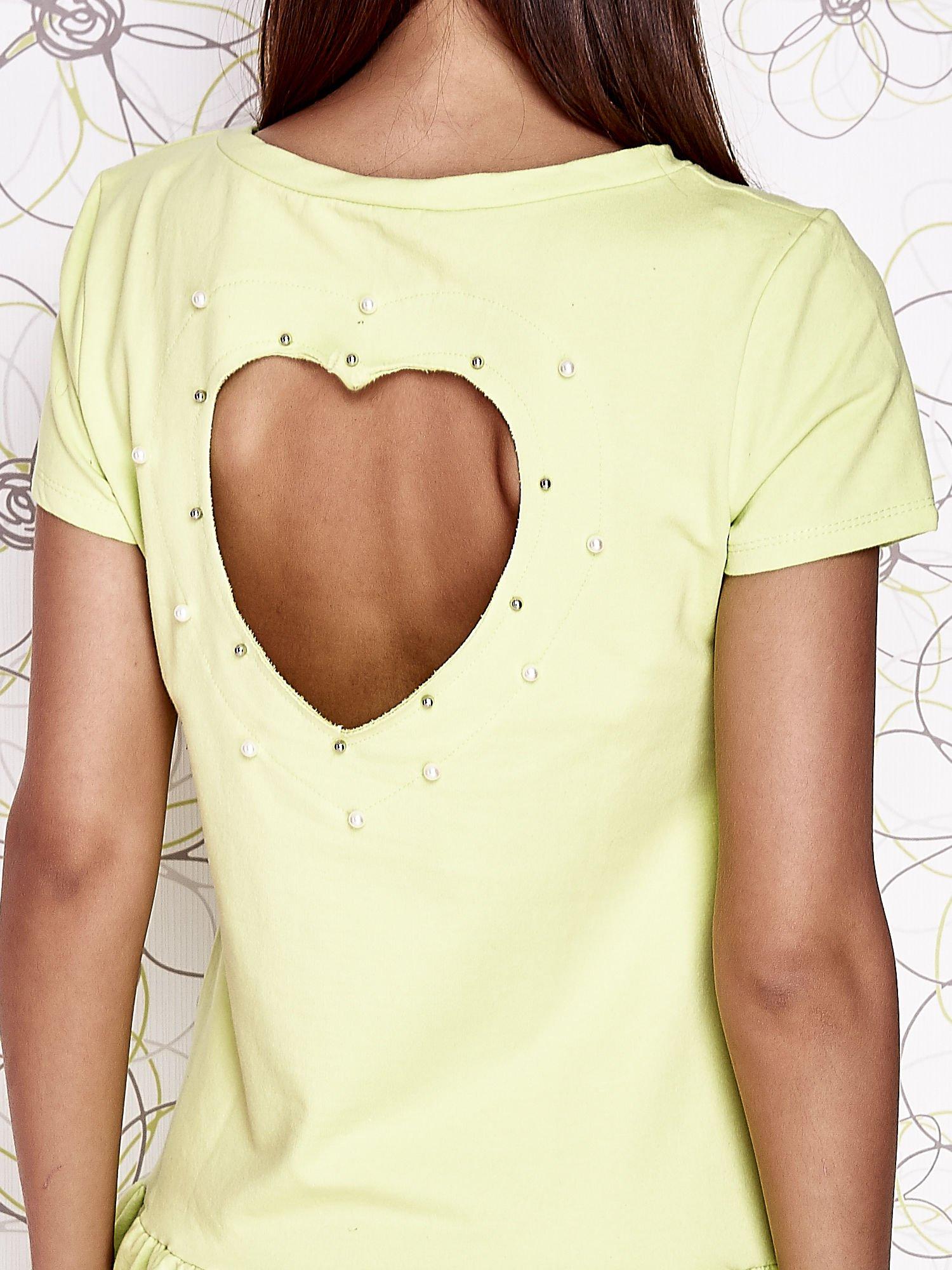 Limonkowa dresowa sukienka z wycięciem na plecach                                   zdj.                                  5