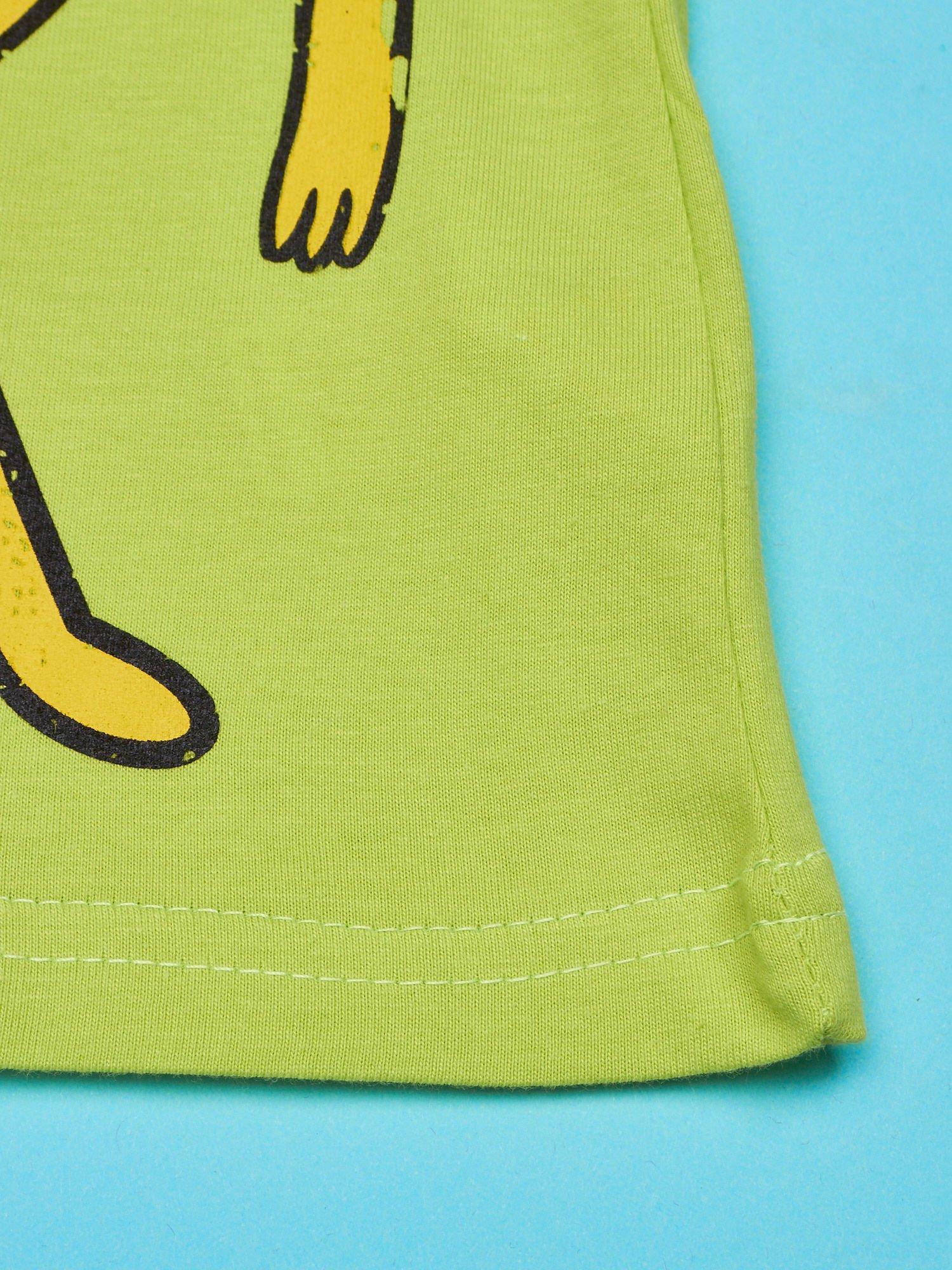 Limonkowy t-shirt chłopięcy z motywem ADVENTURE TIME                                   zdj.                                  4