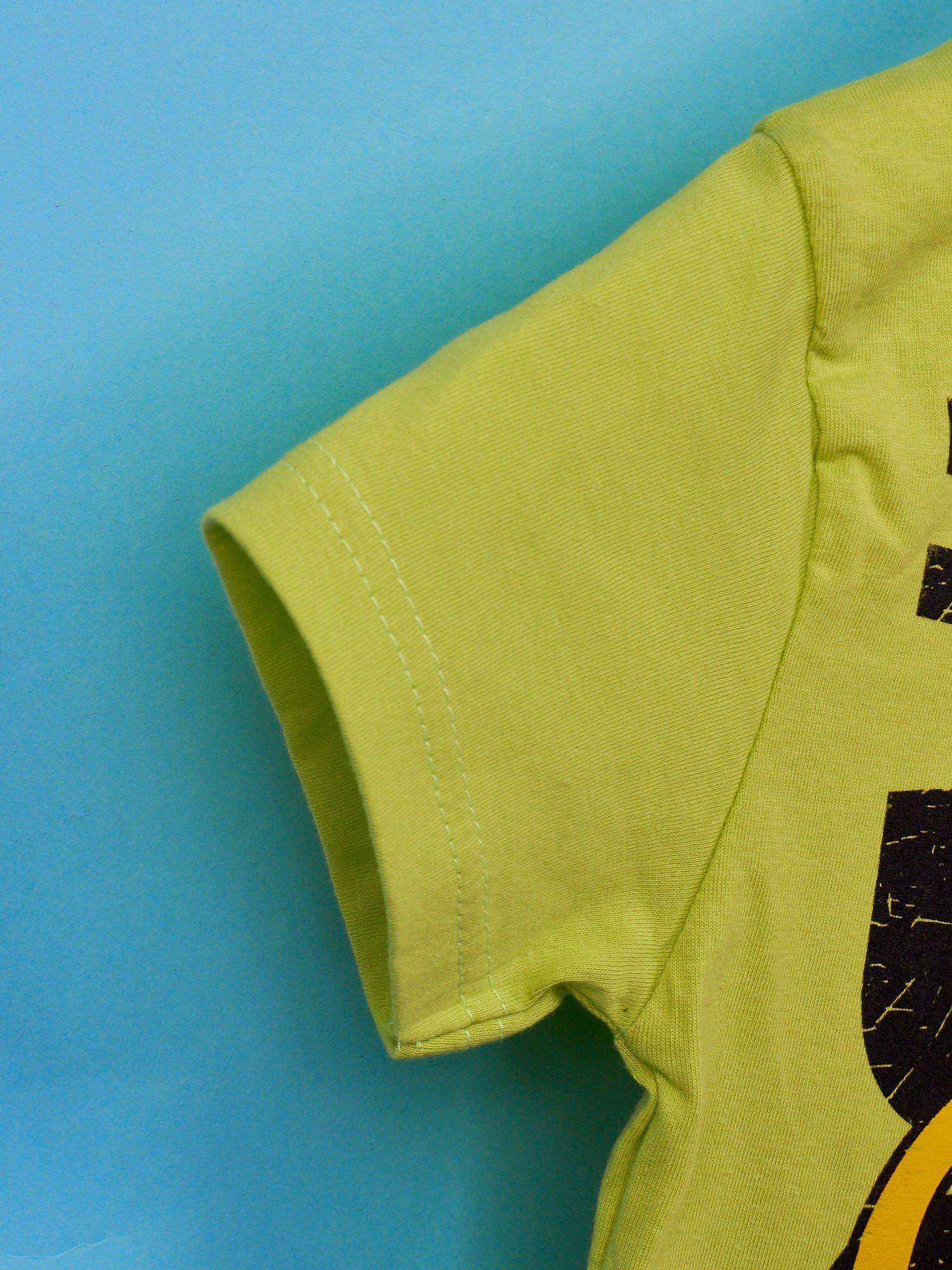 Limonkowy t-shirt chłopięcy z motywem ADVENTURE TIME                                   zdj.                                  5
