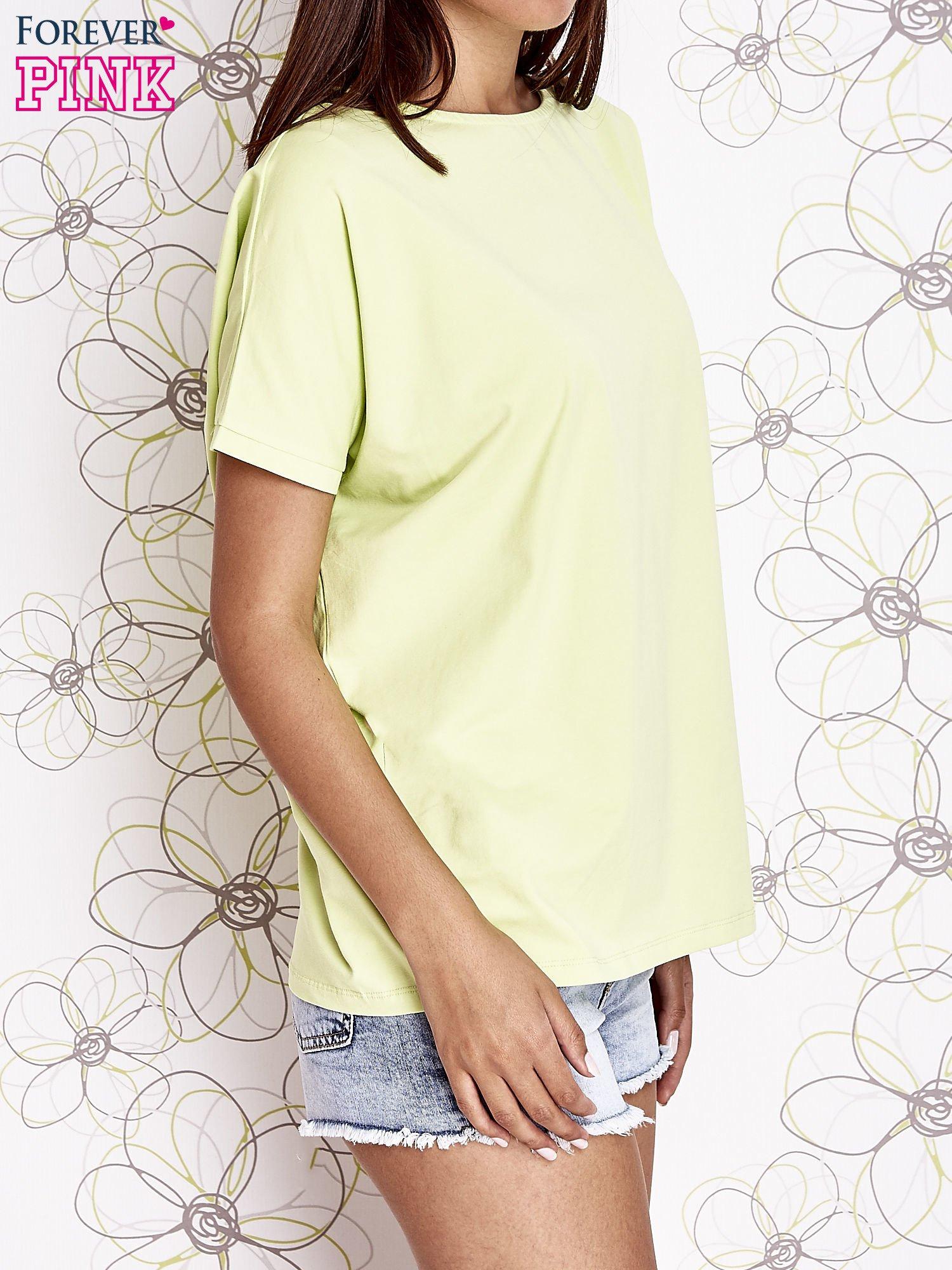 Limonkowy t-shirt oversize                                  zdj.                                  3