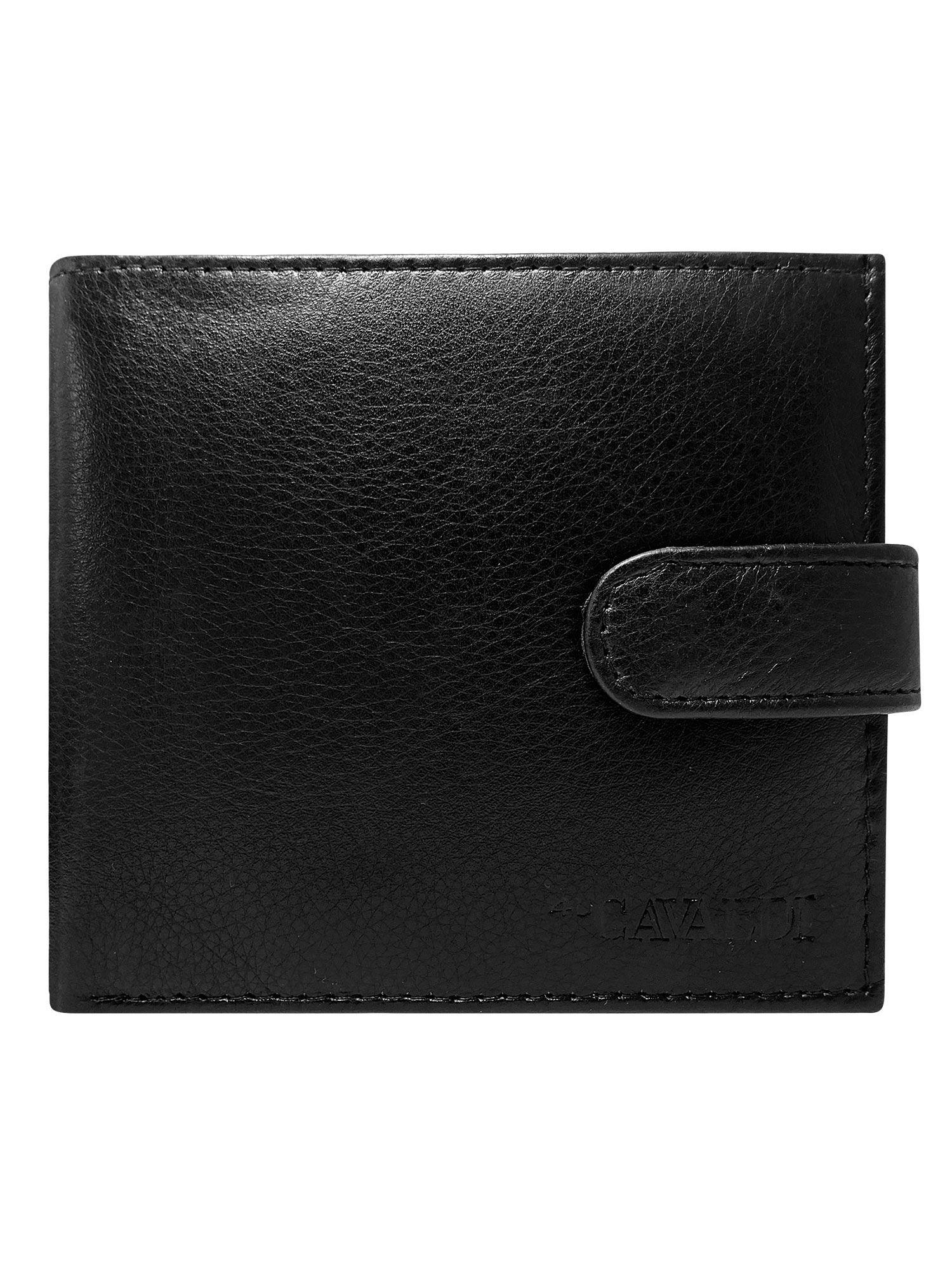 af425c8c391ee Męski czarny portfel skórzany - Mężczyźni portfel męski - sklep eButik.pl