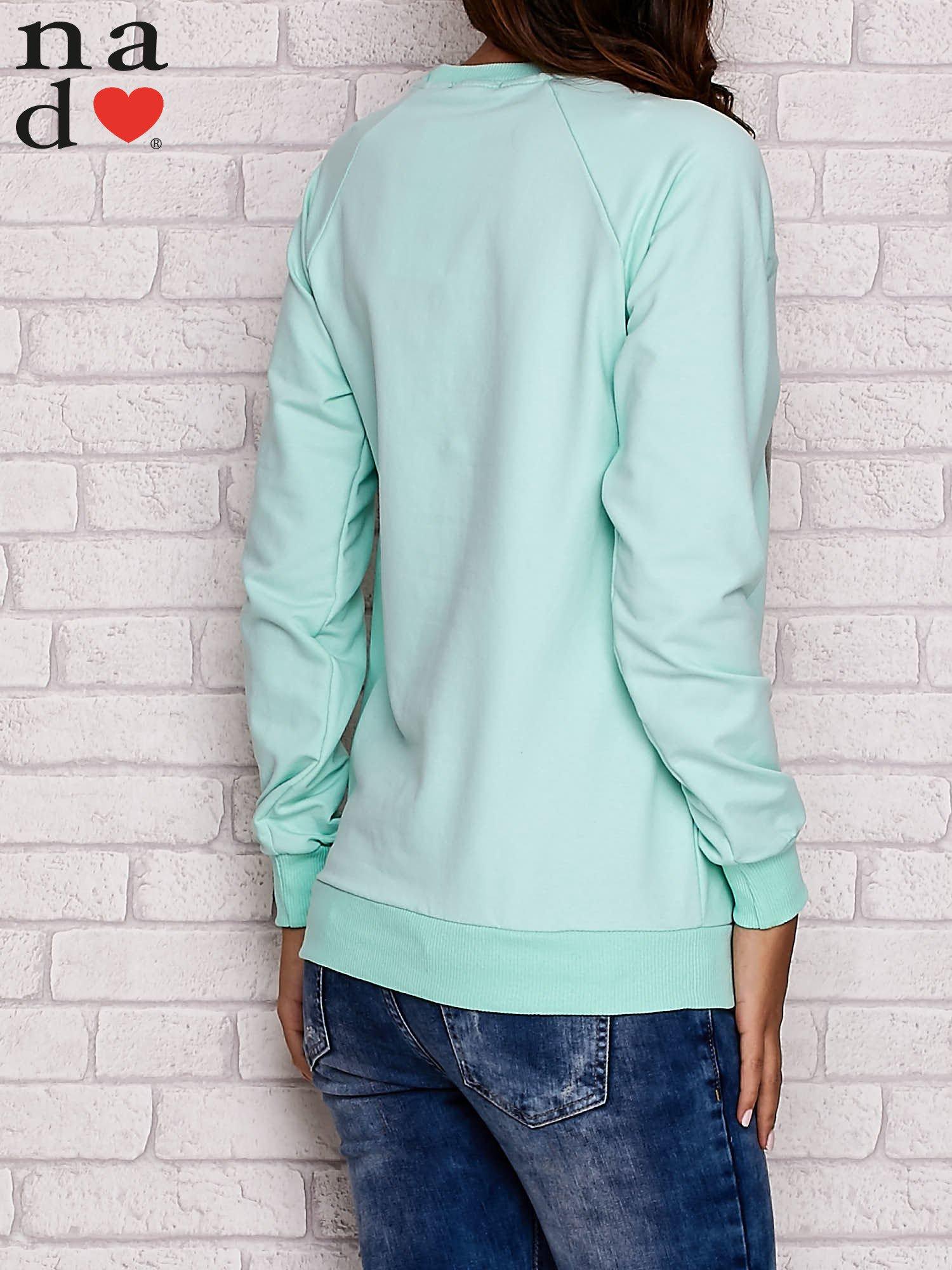 Miętowa bluza z serduszkami                                  zdj.                                  4