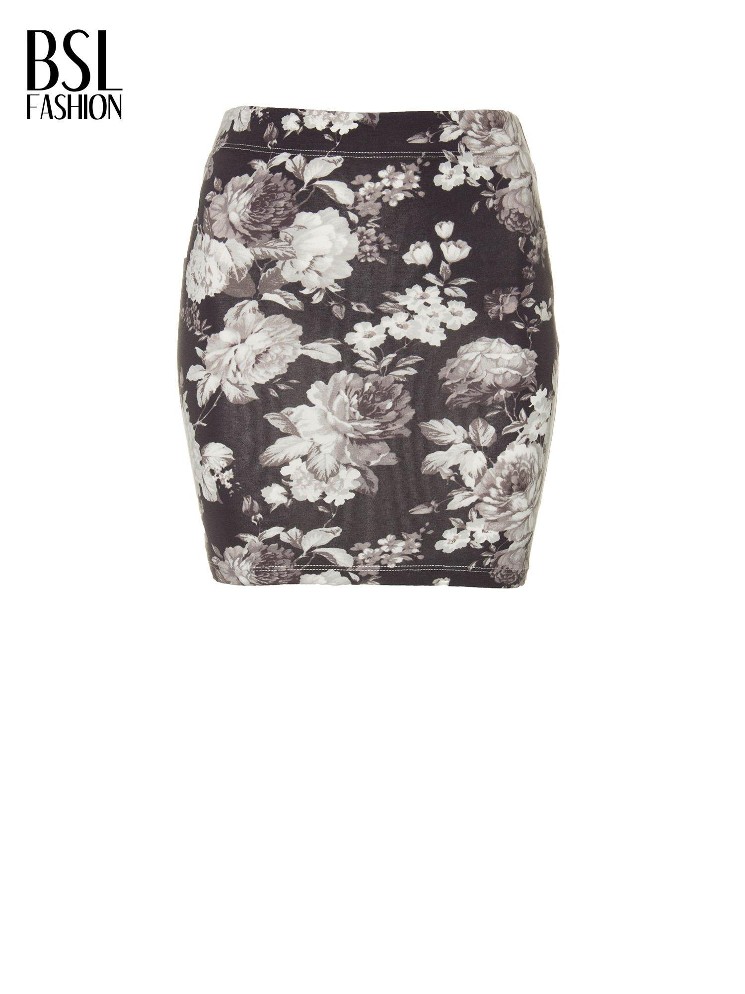Mini spódnica tuba w kwiaty                                  zdj.                                  8