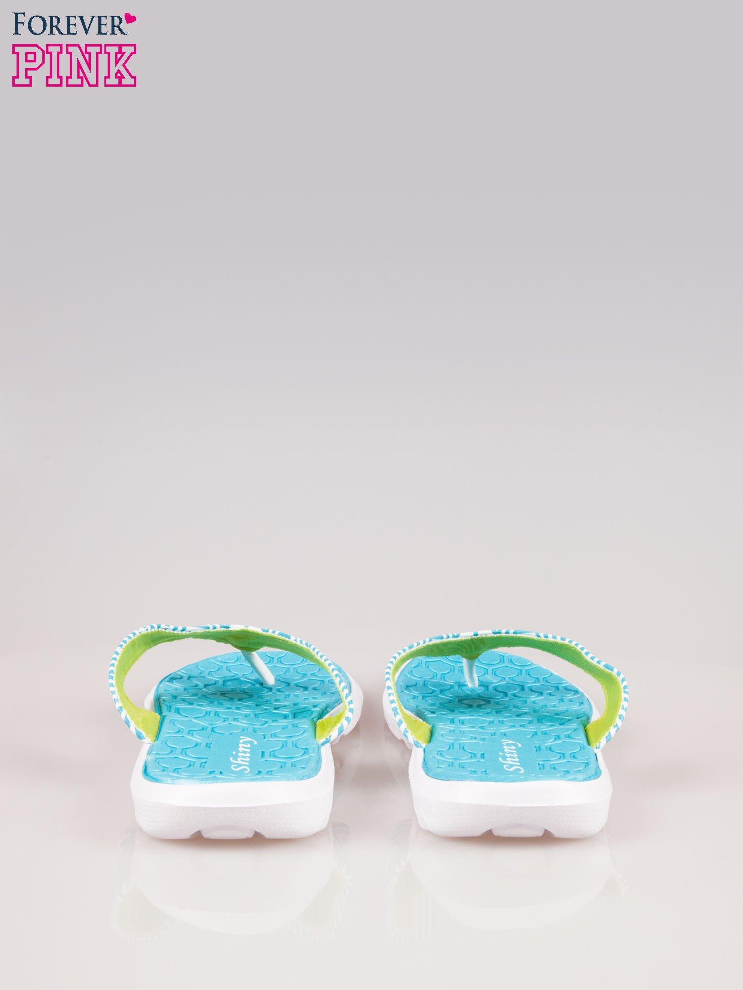 Morskie gumowe japonki z wzorem                                  zdj.                                  3