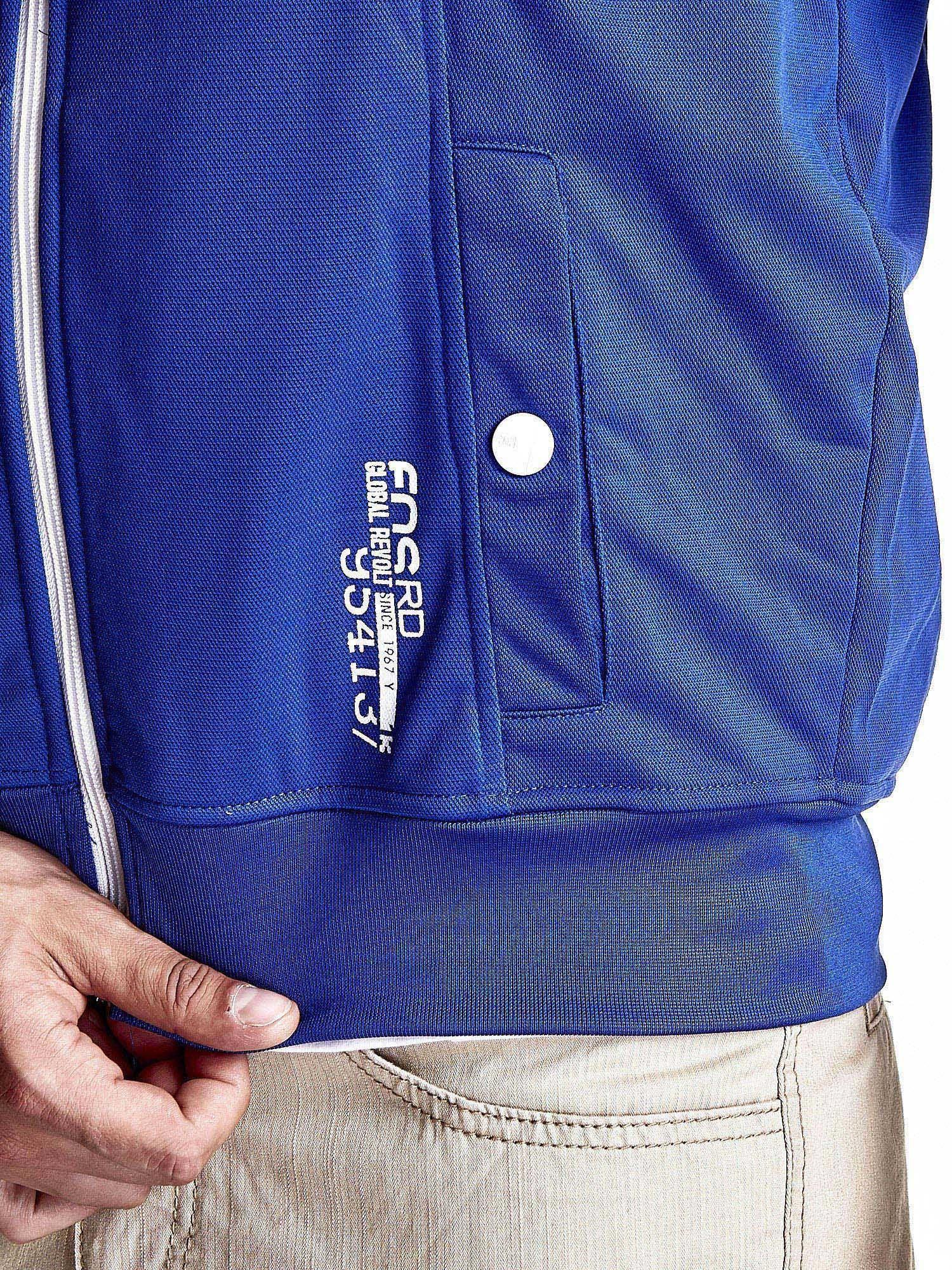 Niebieska bluza męska z kieszeniami na suwak Funk n Soul                                  zdj.                                  8