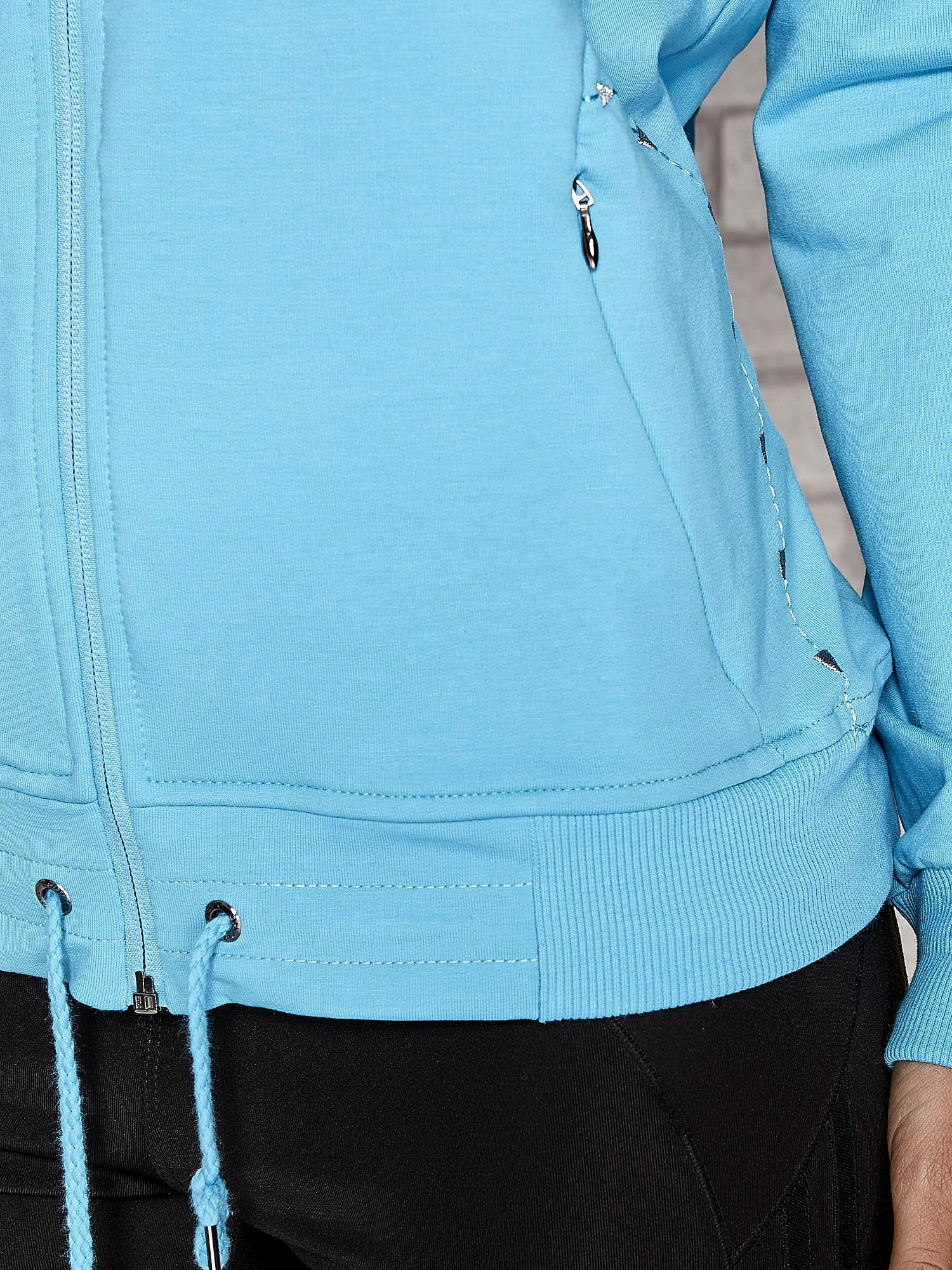Niebieska bluza sportowa fitness ze wstawkami                                  zdj.                                  5