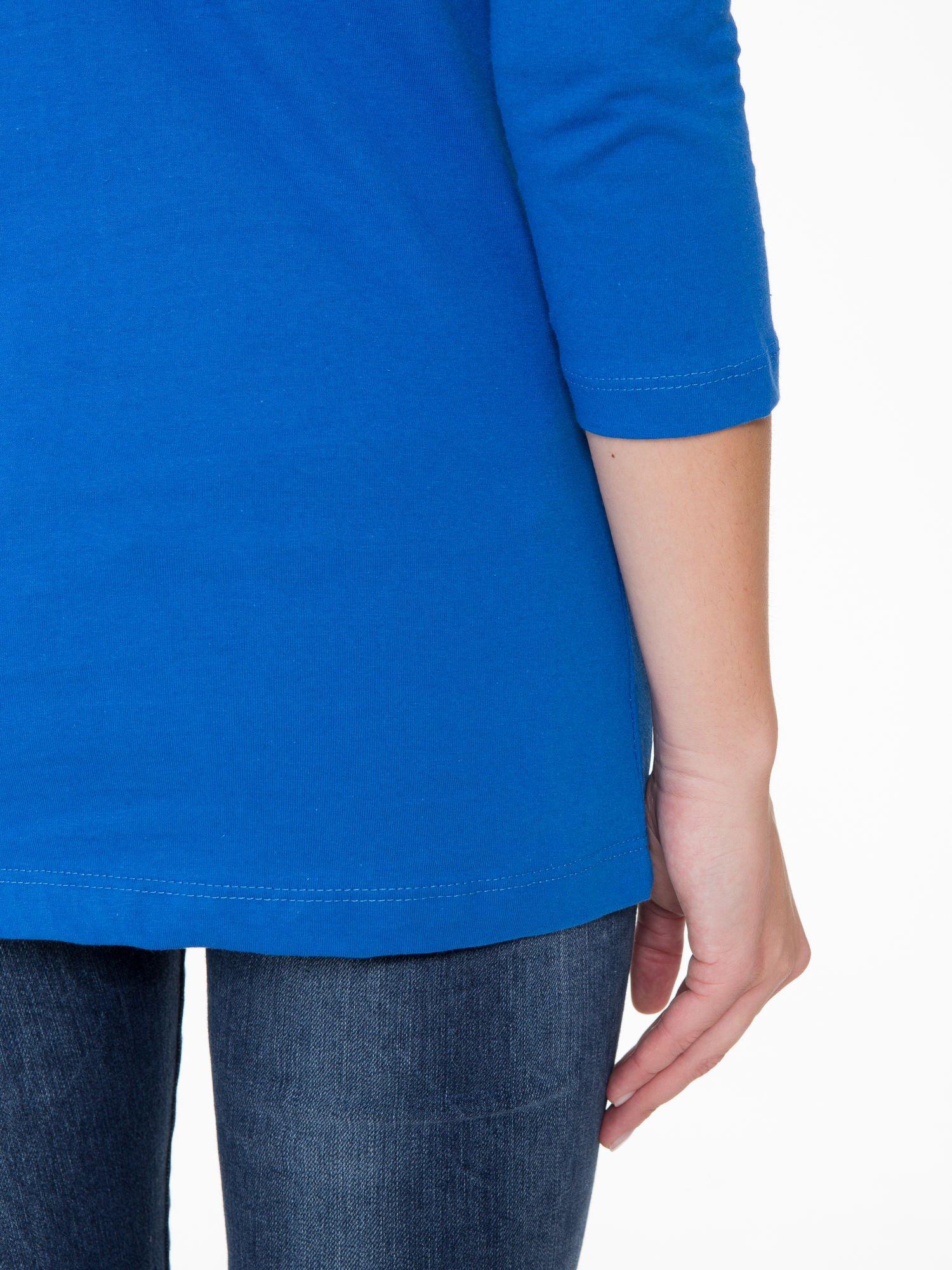 Niebieska bluzka z nadrukiem loga Instagrama                                  zdj.                                  8