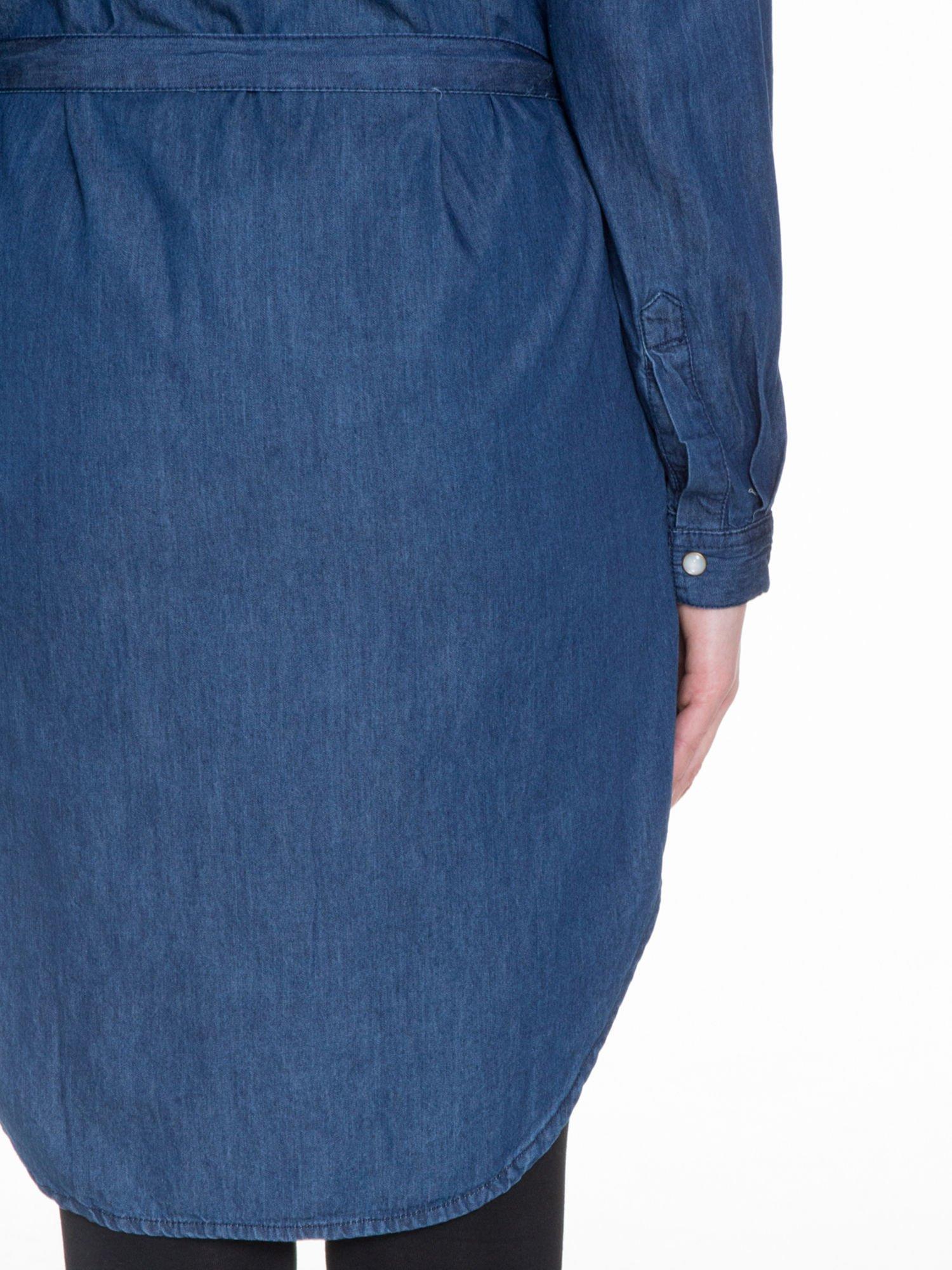 Niebieska jeansowa sukienka typu szmizjerka                                  zdj.                                  9