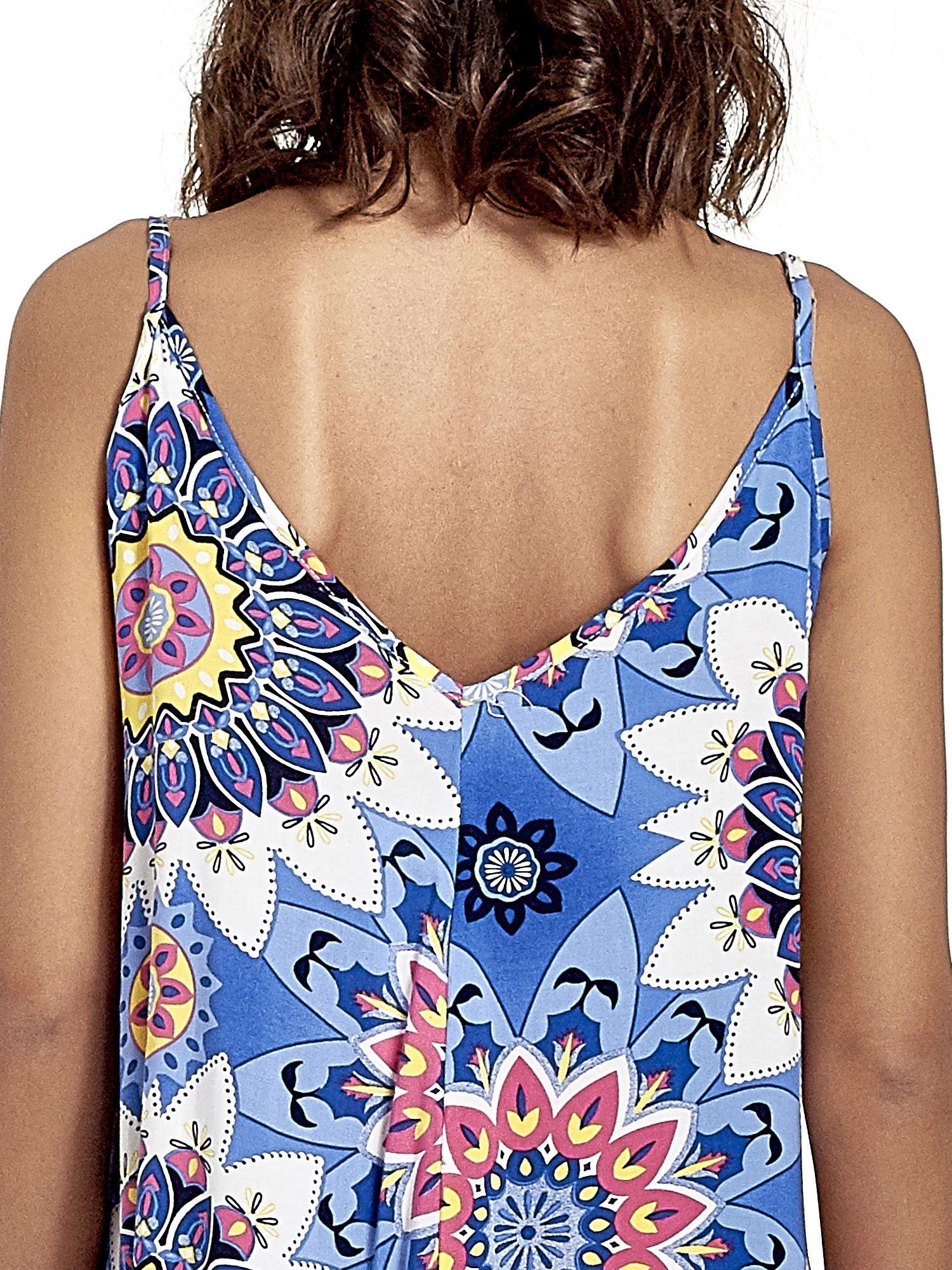 Niebieska letnia sukienka w kwiaty                                  zdj.                                  7