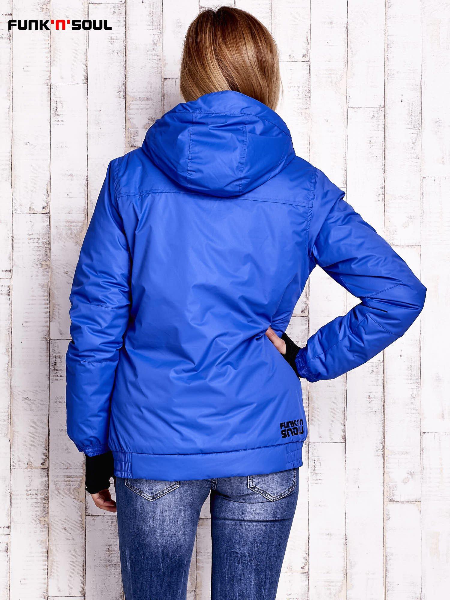 Niebieska ocieplana kurtka narciarska z kapturem FUNK N SOUL                                  zdj.                                  4