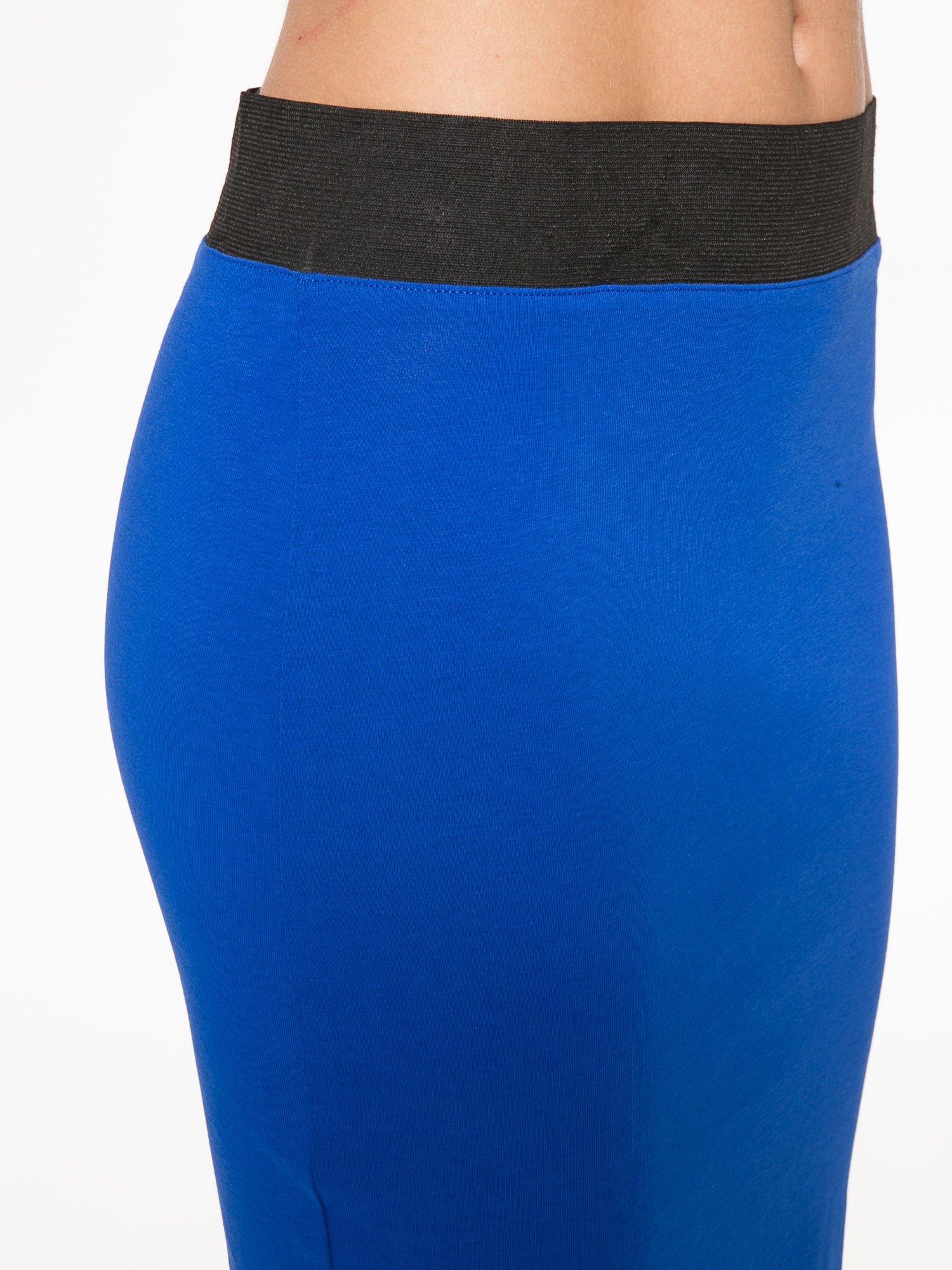 Niebieska spódnica tuba z zamkiem z tyłu                                  zdj.                                  7