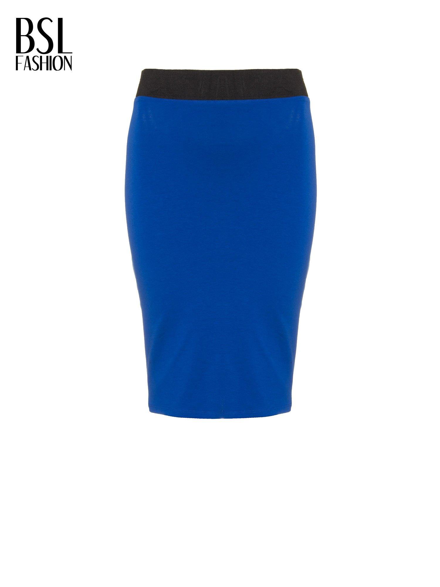 Niebieska spódnica tuba z zamkiem z tyłu                                  zdj.                                  5