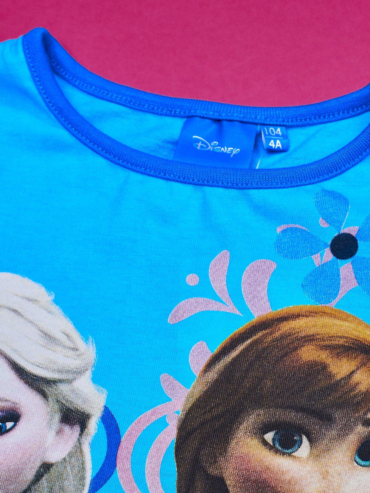 Niebieska sukienka dla dziewczynki z tiulowym wykończeniem FROZEN                                  zdj.                                  4