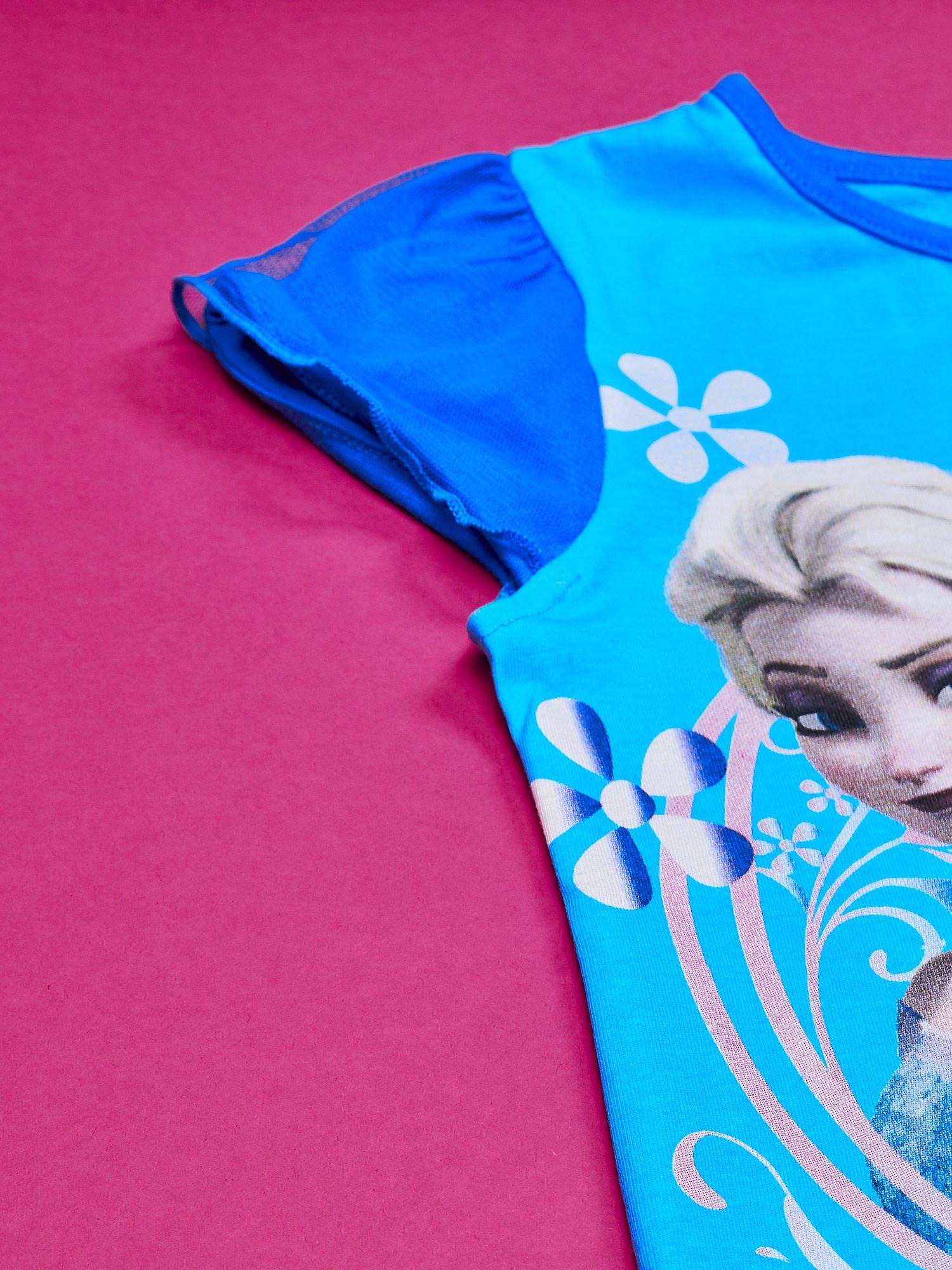 Niebieska sukienka dla dziewczynki z tiulowym wykończeniem FROZEN                                  zdj.                                  7