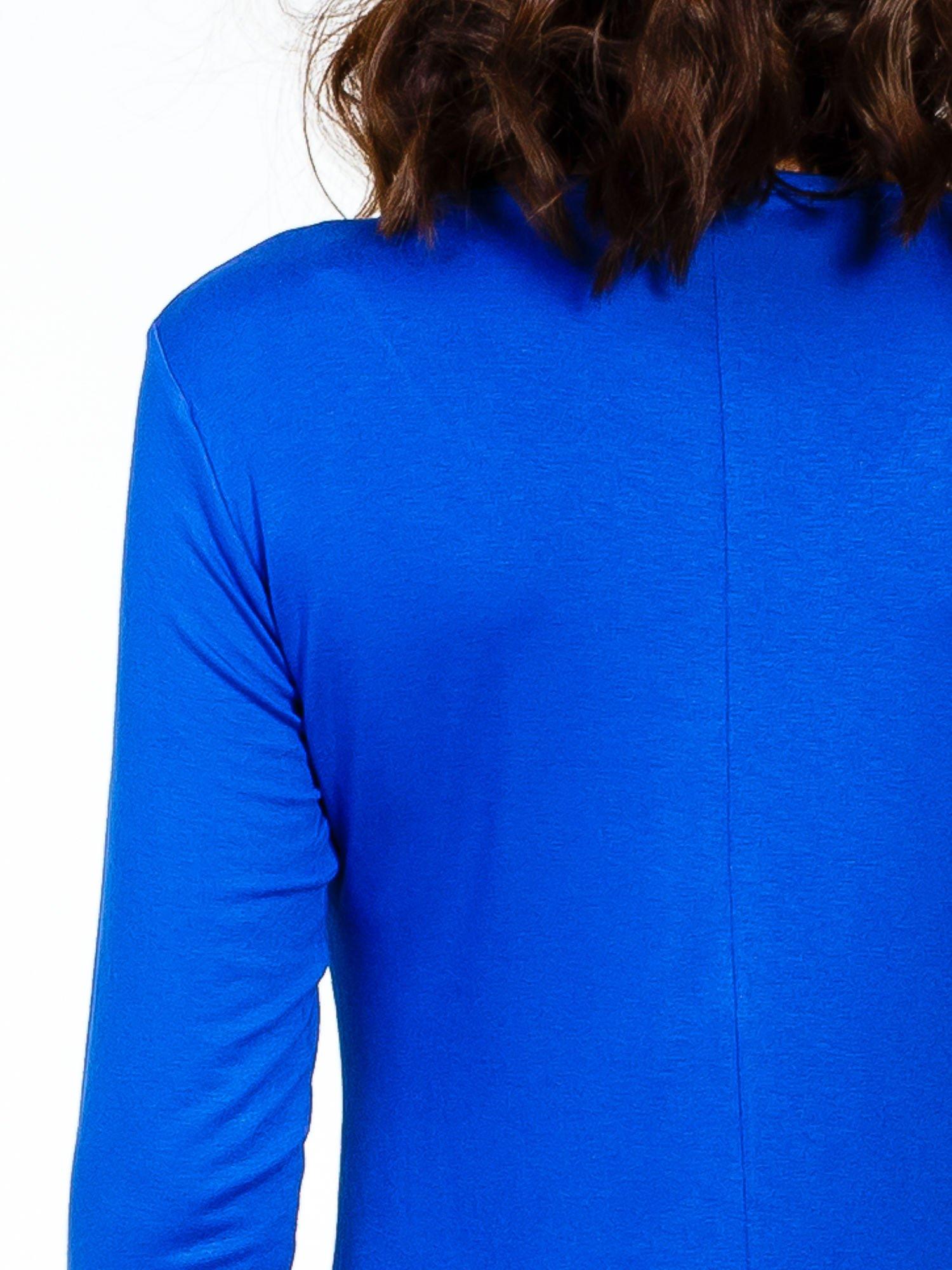 Niebieska sukienka z suwakiem                                  zdj.                                  6