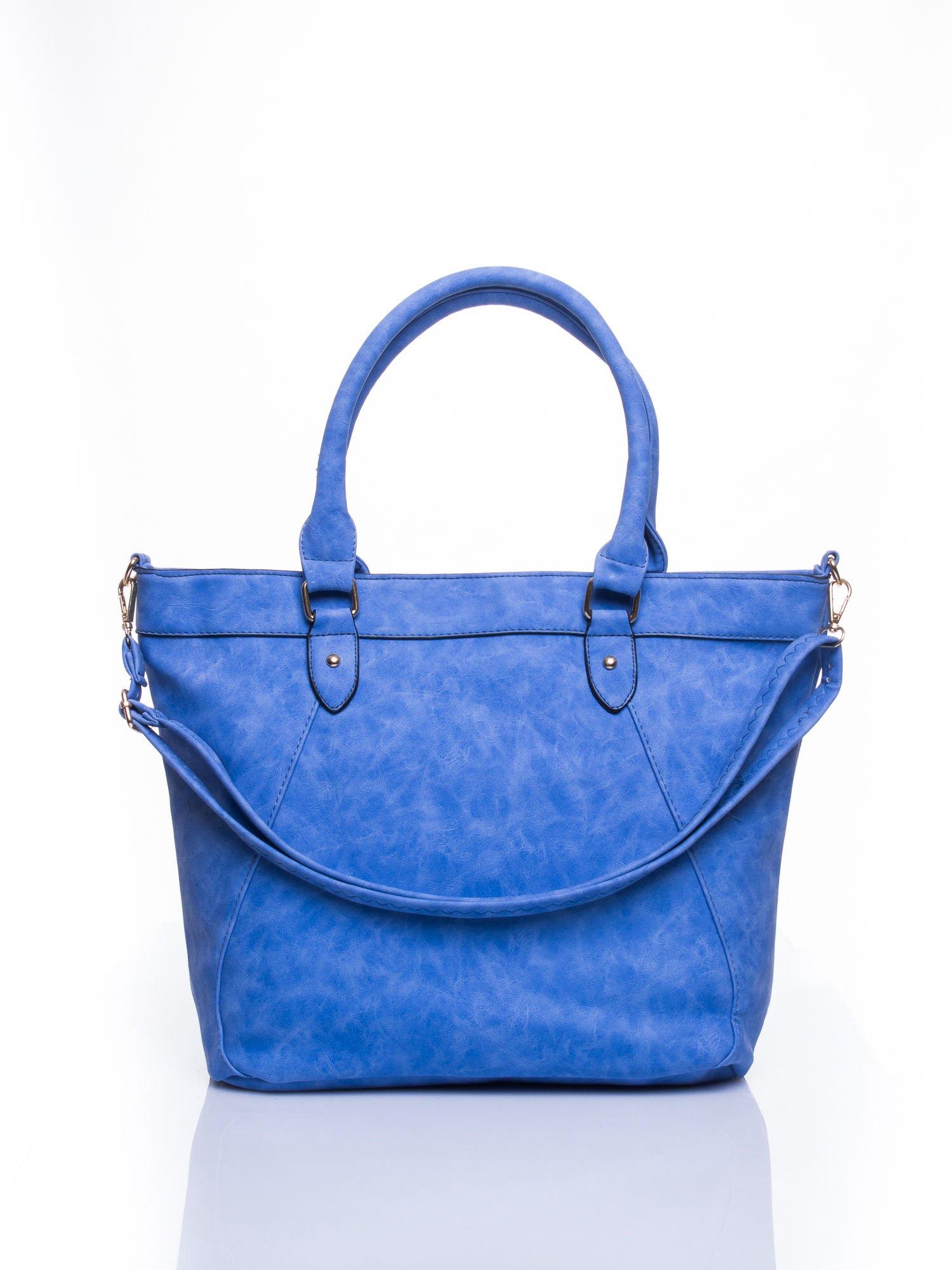 Niebieska torba city bag na ramię                                  zdj.                                  1