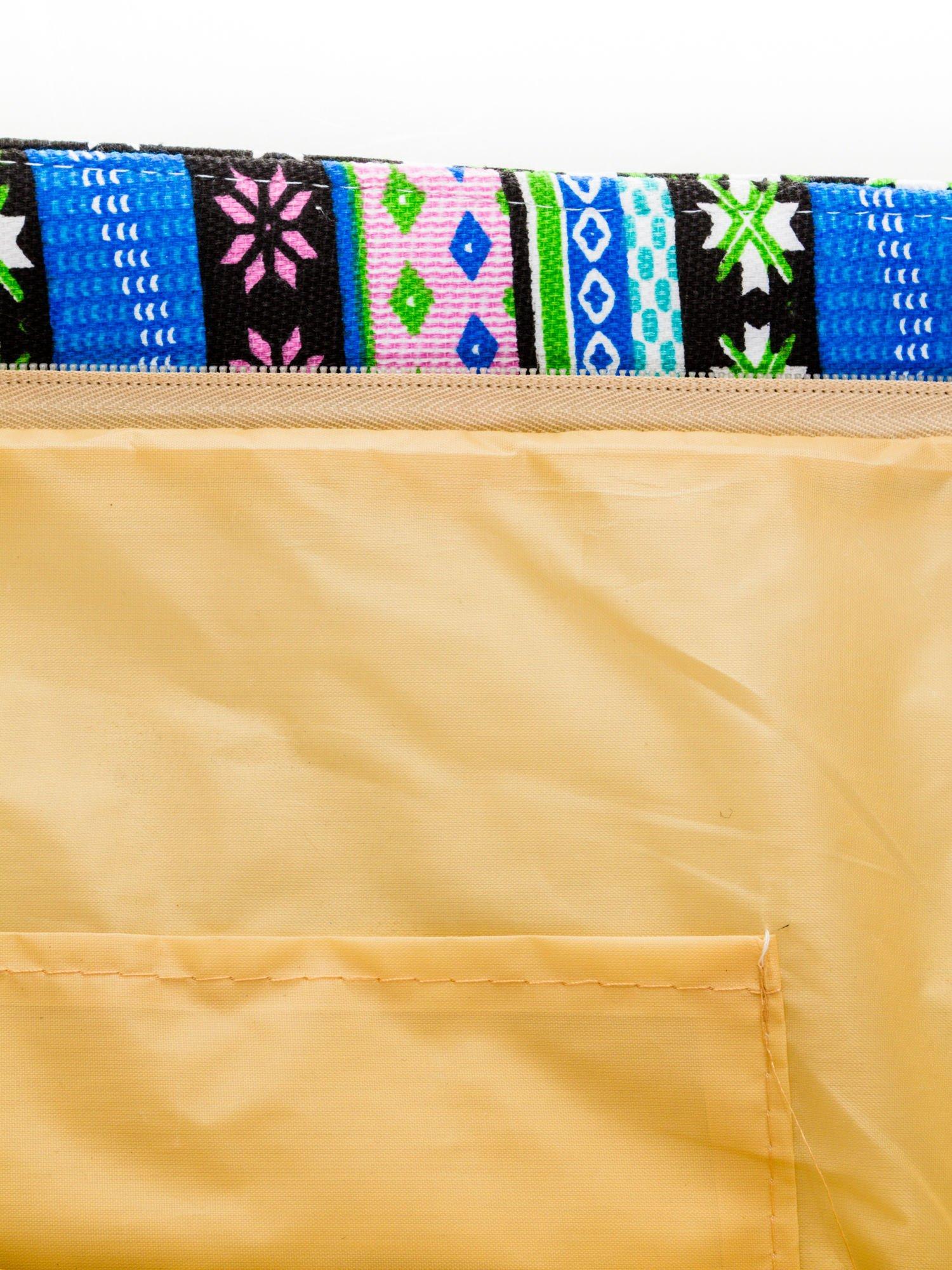 Niebieska torba plażowa w azteckie wzory                                  zdj.                                  7